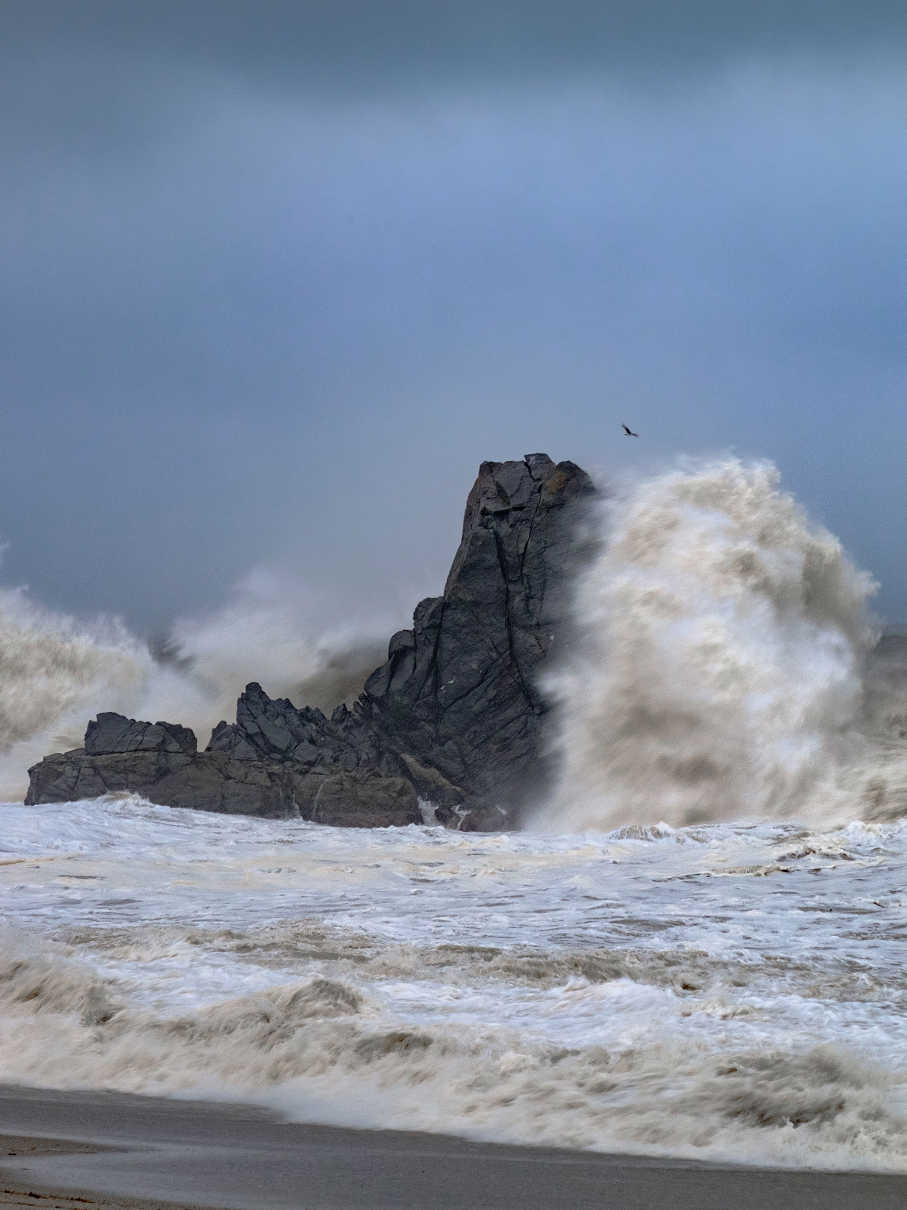 Storm on the cliff...