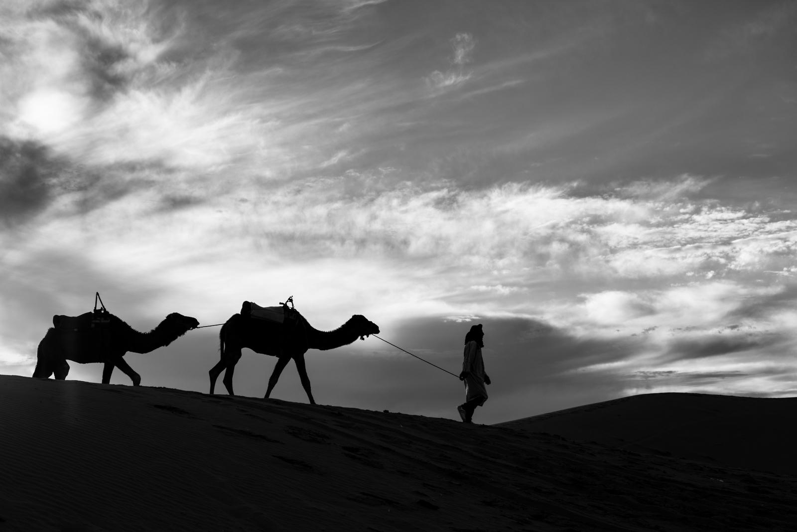 Sunset in the desert...