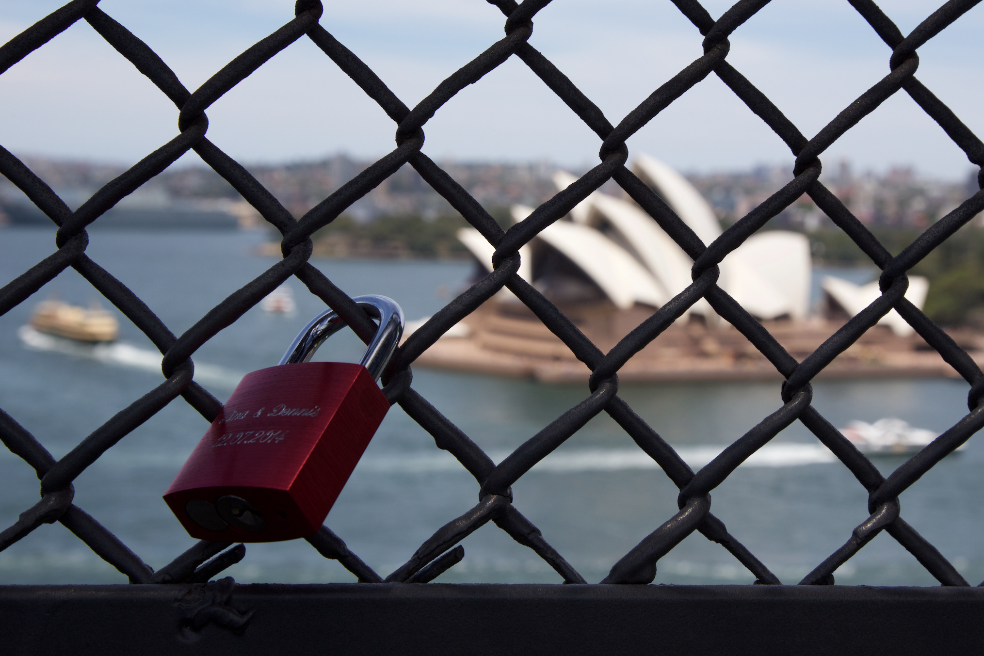 Sydney Opera House views from the Harbour Bridge...