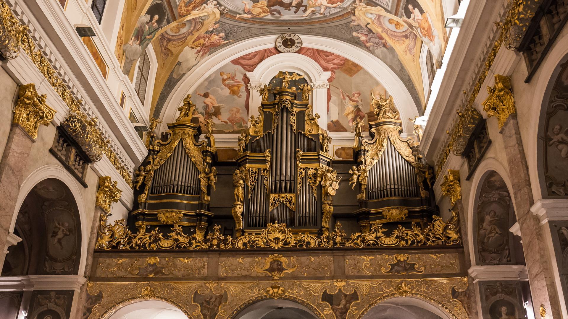 Organ of St. Nicholas Cathedral in Ljubljana...