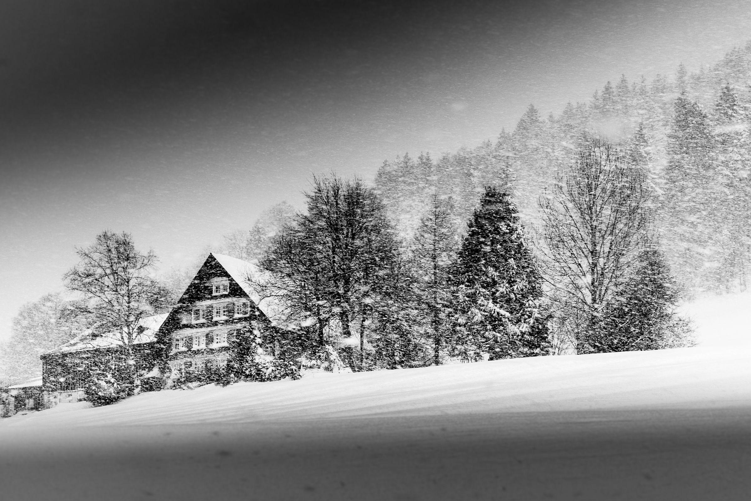 Blizzard of snow in Wildhaus...