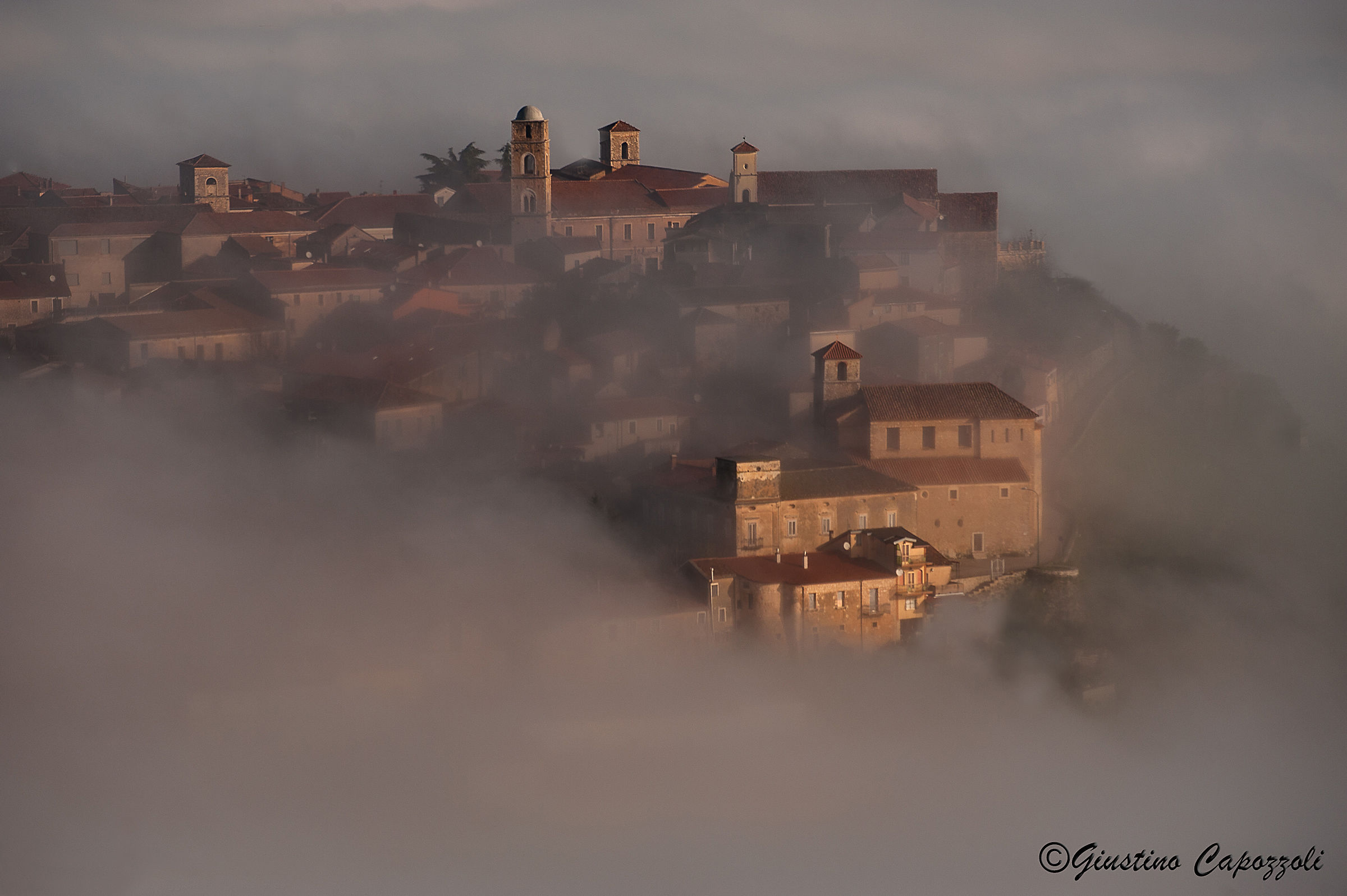 Teggiano bell in the fog....