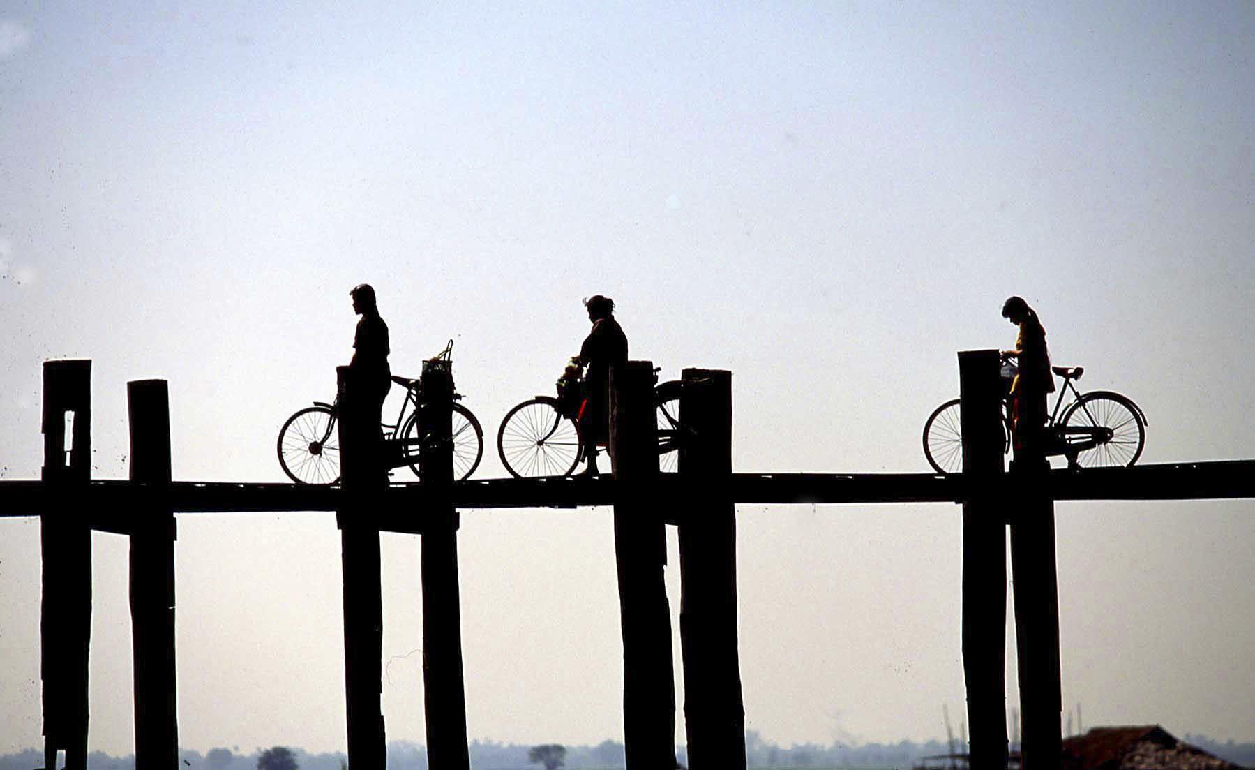 wooden bridge in Burma...