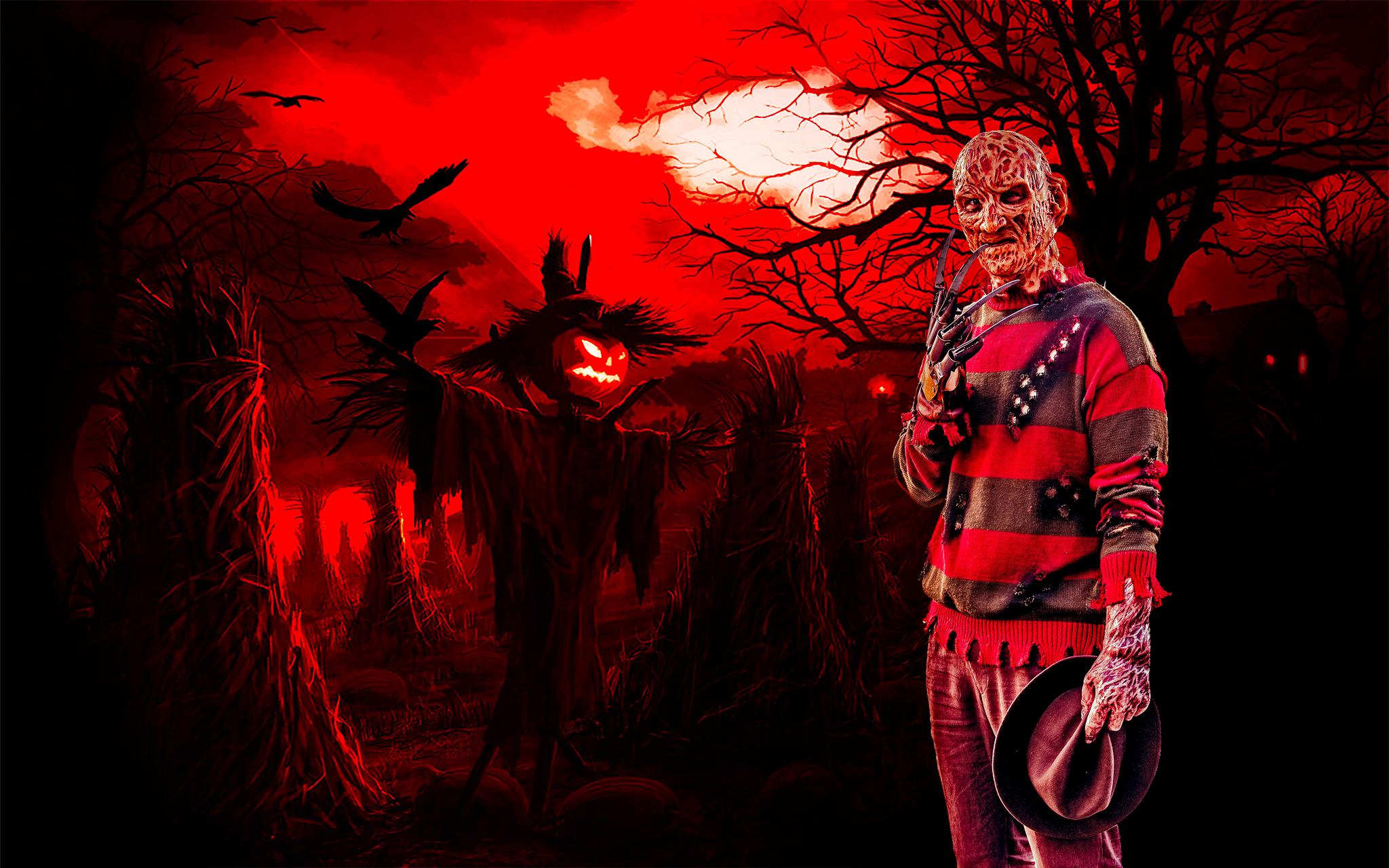 Freddy Krueger cosplay...
