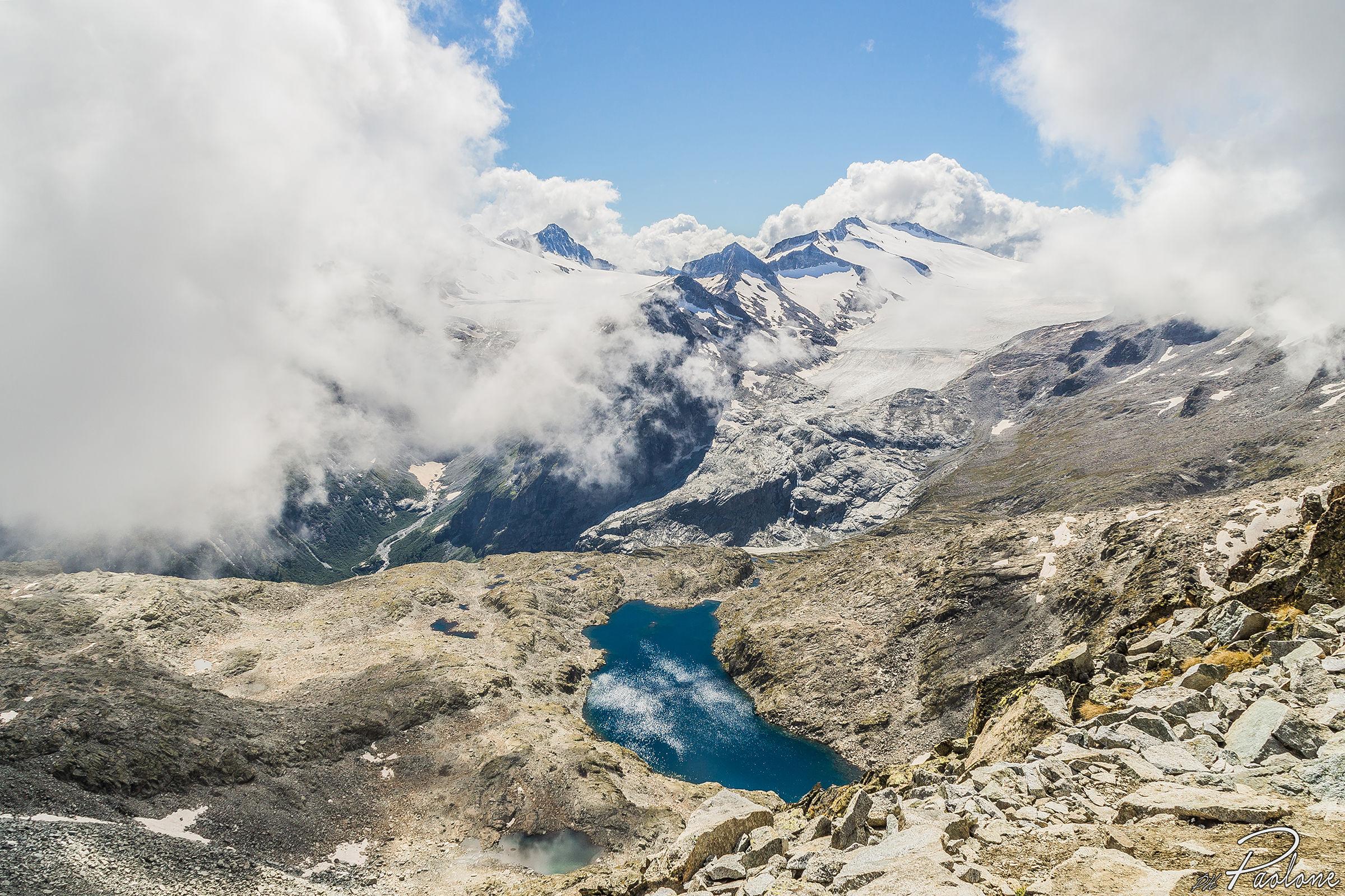 The retreat of the glacier...