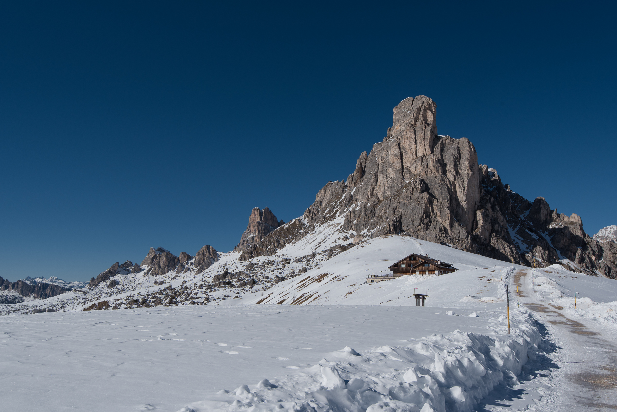 The Gusella, the mountain which overlooks the Passo Giau...