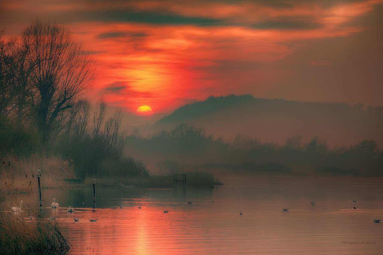Sunset on Lake Varese!...