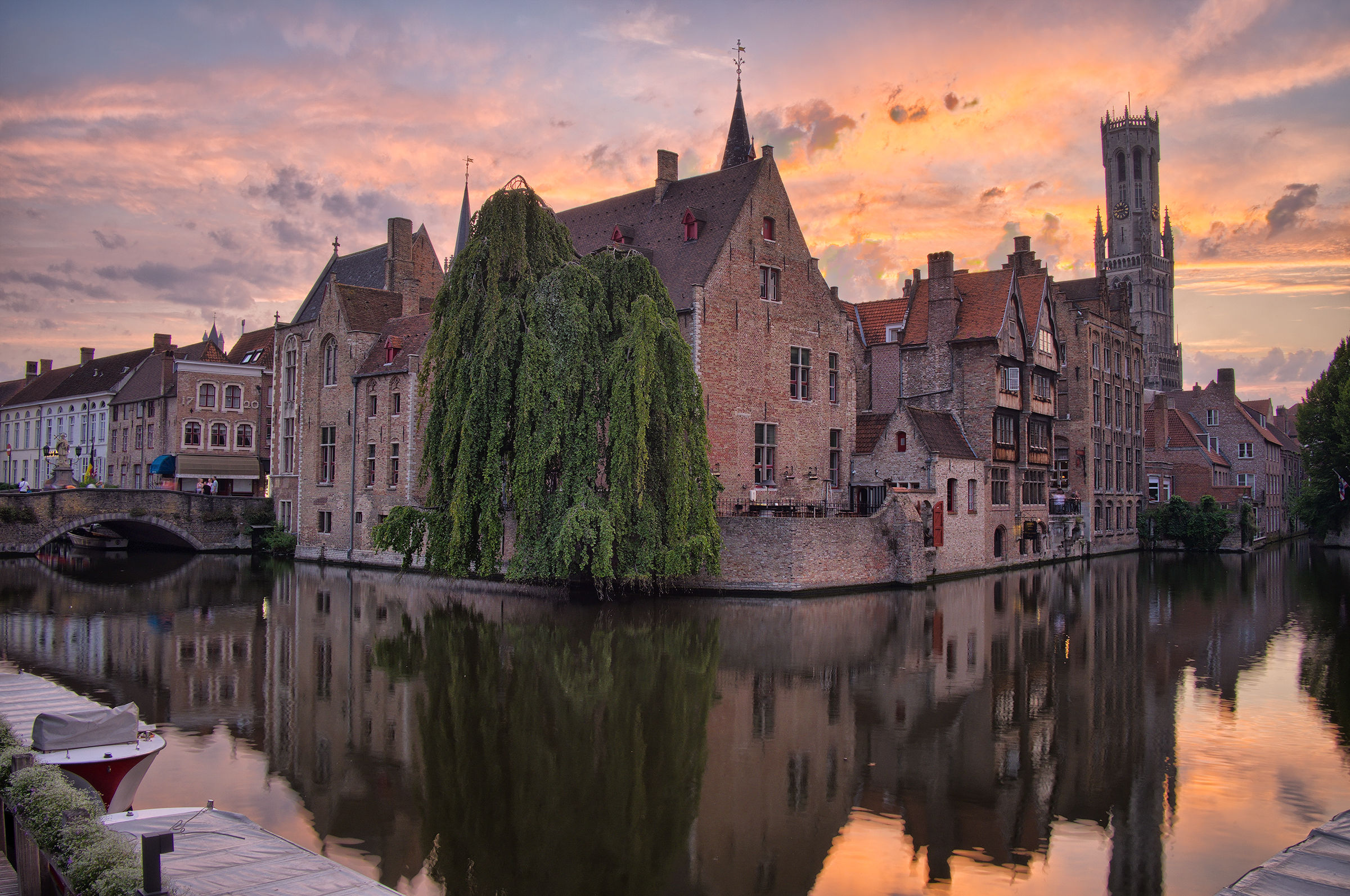 Tramonto a Bruges...