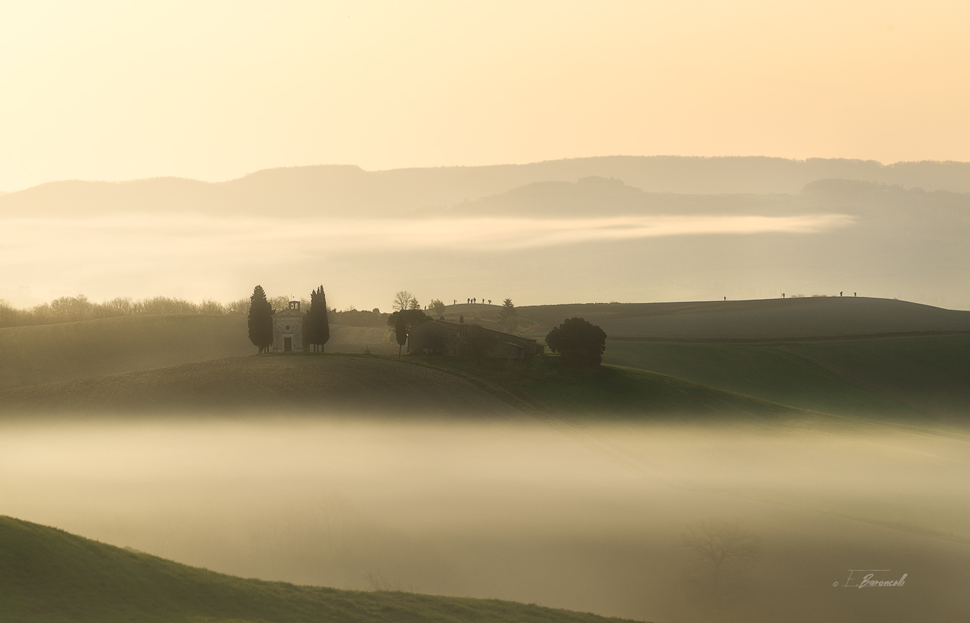 Sunrise in Val d'Orcia...