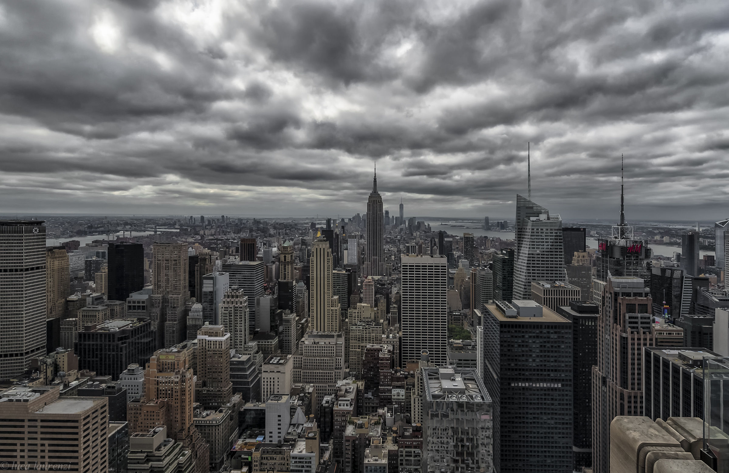 New York city from the top of the rock...