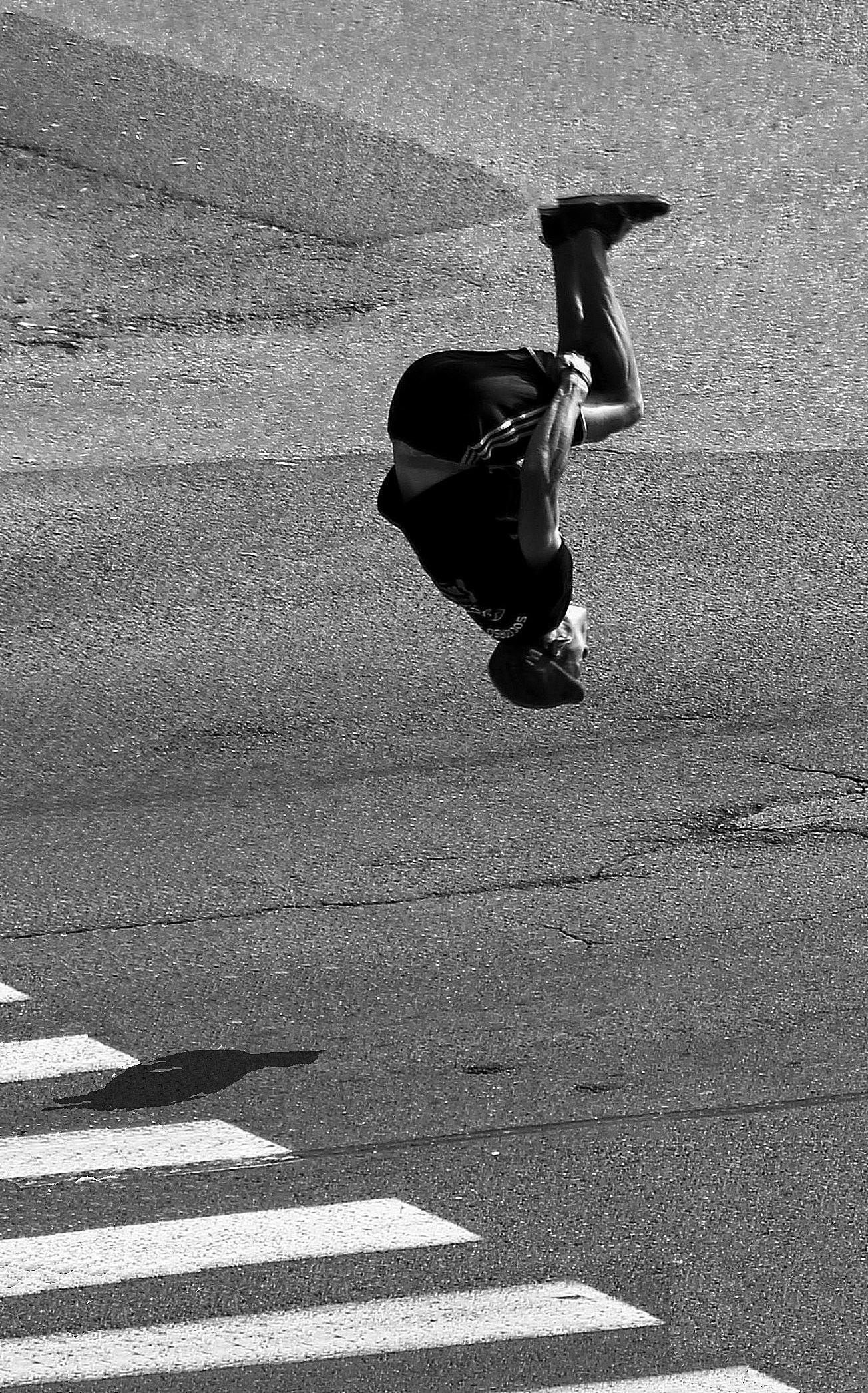 The acrobat...