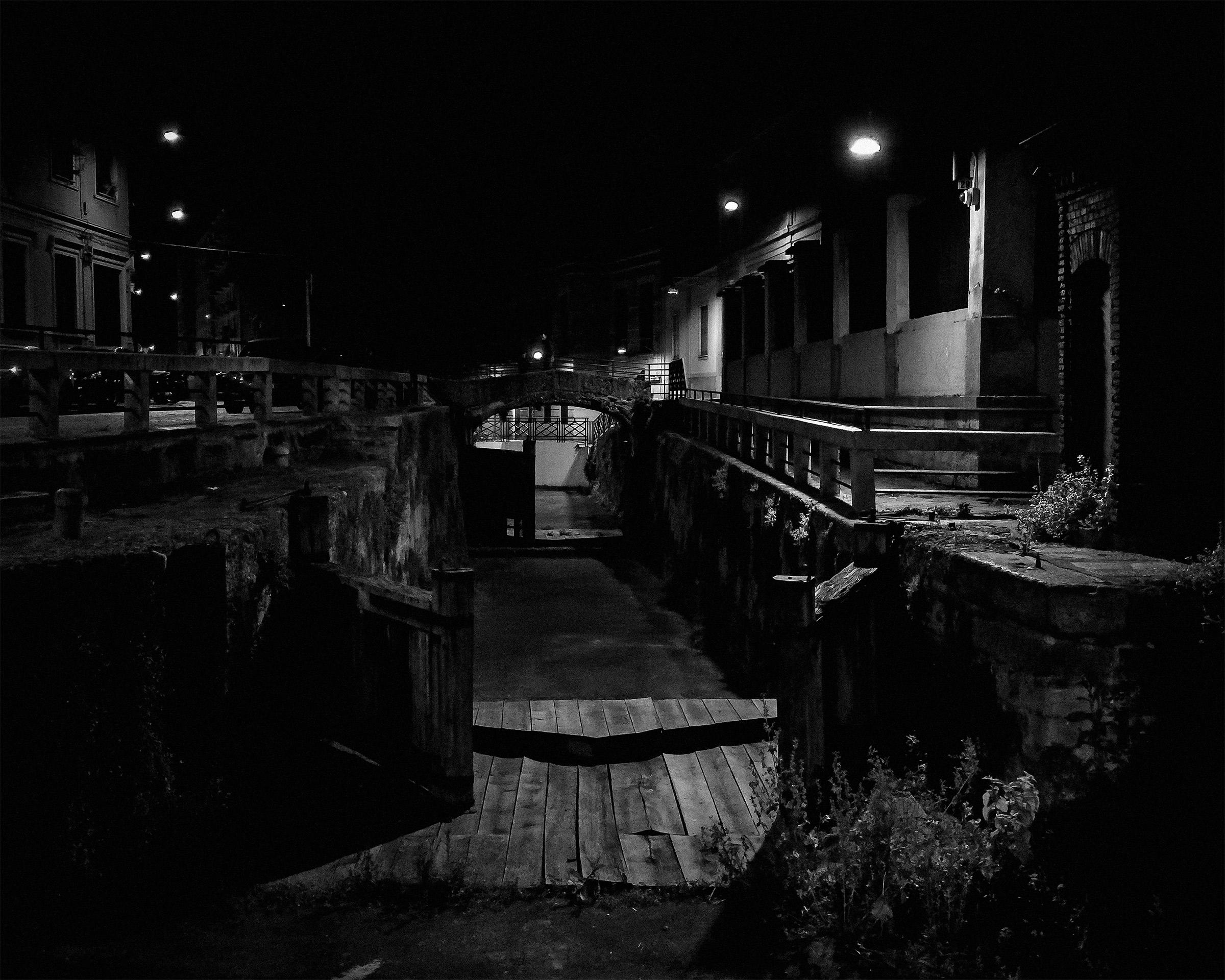 El Tombon de San Marc by night BN...