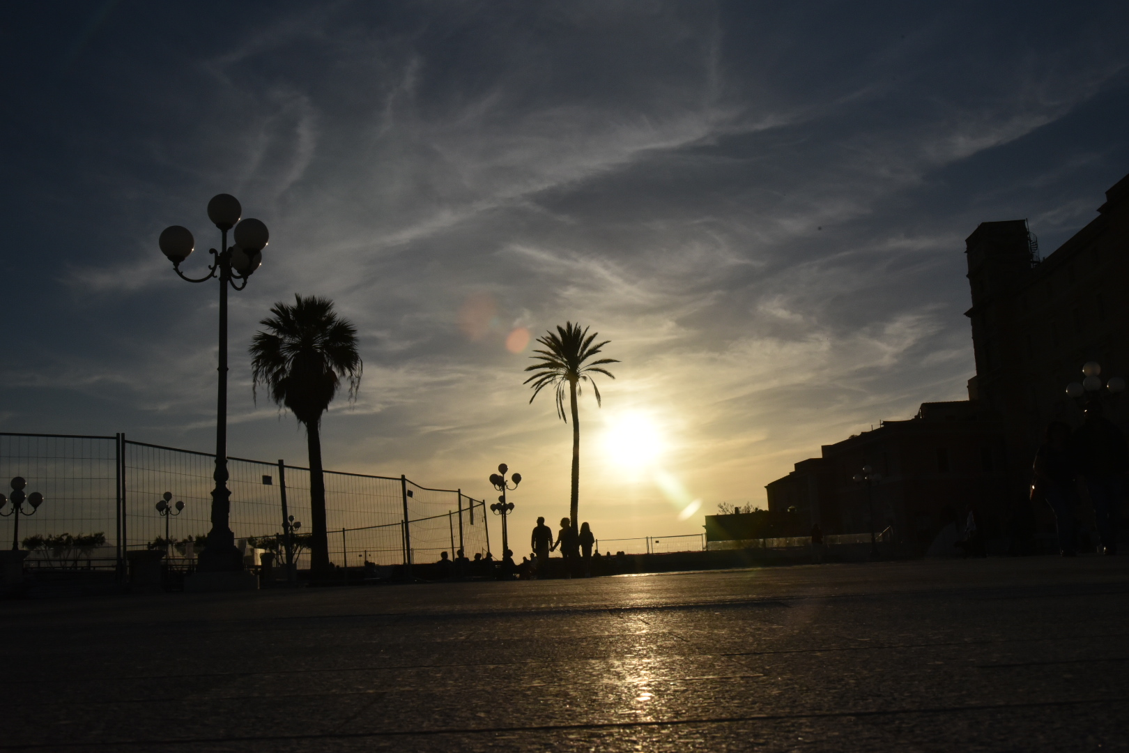 Sunset at the Cagliari Bastion...