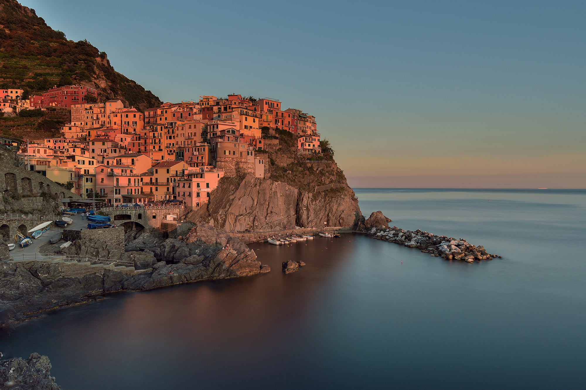 Sunset in Manarola...