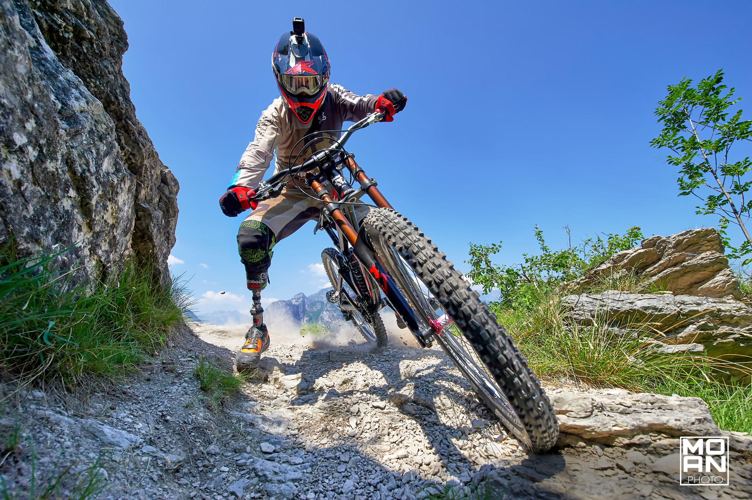 Downhill with Alessandro Avigliano...