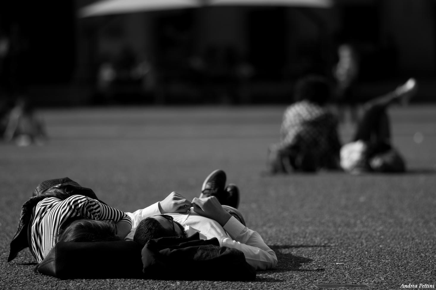 Bodies in the sun...