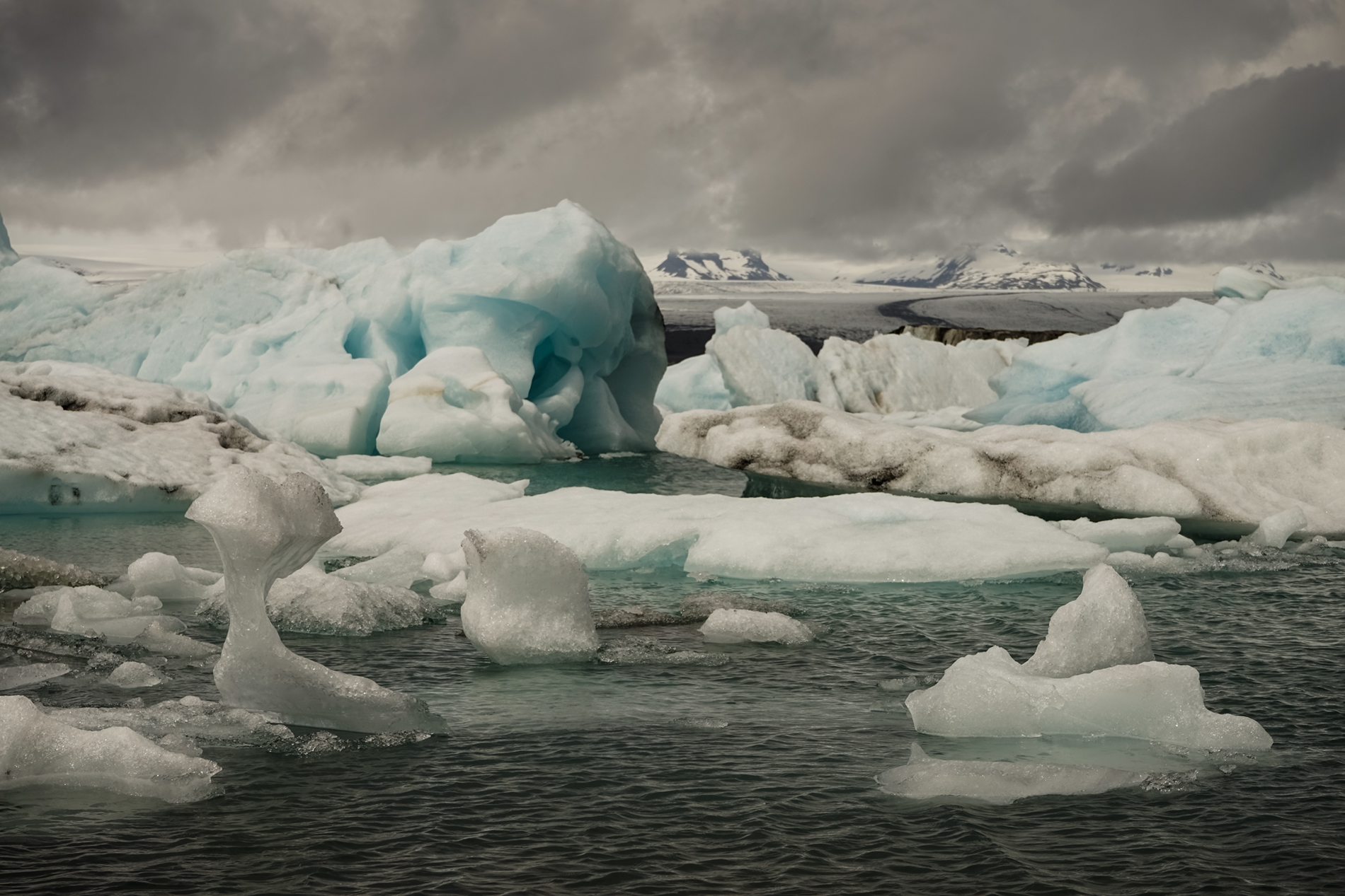 The remains of the vatnajokull...