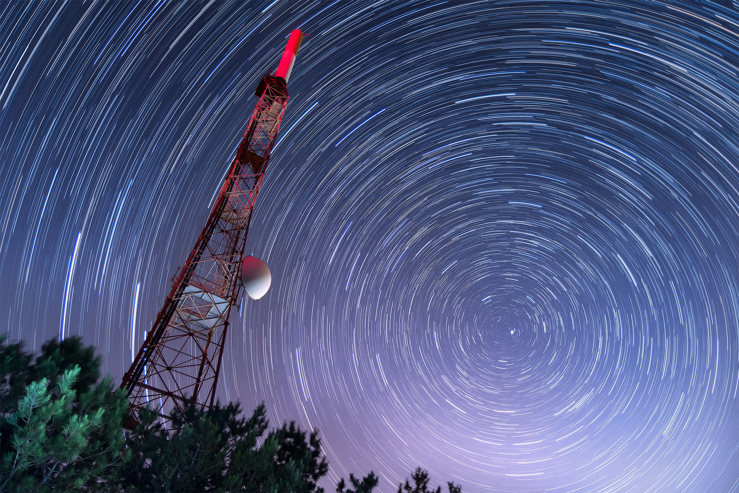 Startrail on Monte Faito...