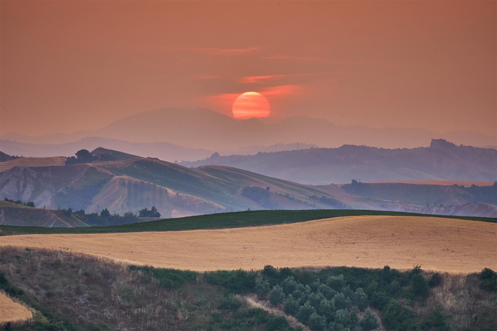 Red sun...