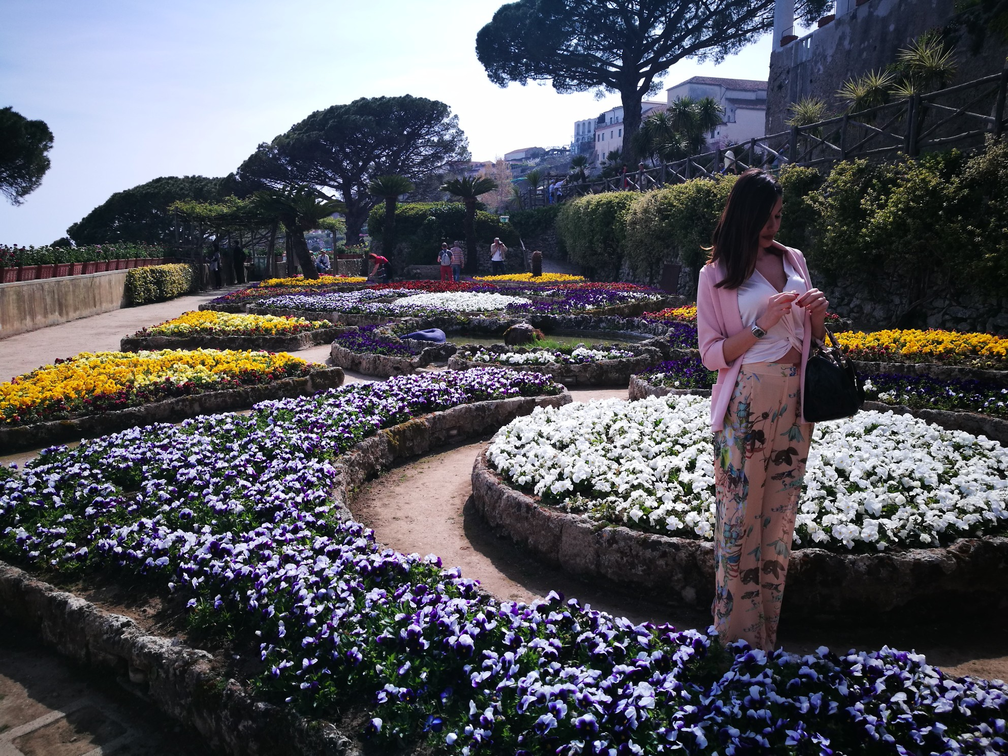 In the gardens of Villa Rufolo...