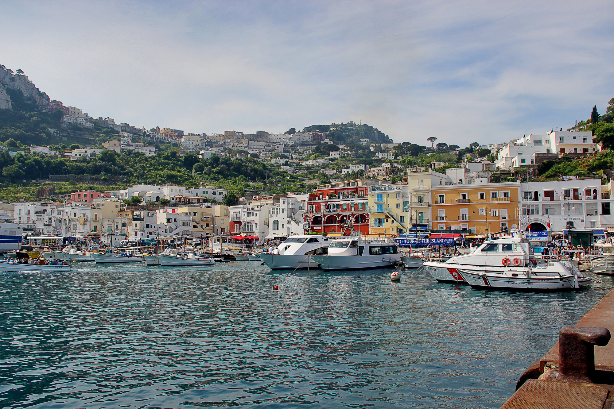 The landing at Capri...