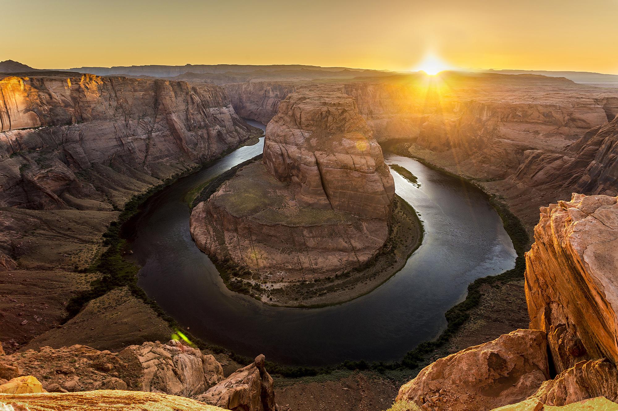 Horseshoe bend sunset...
