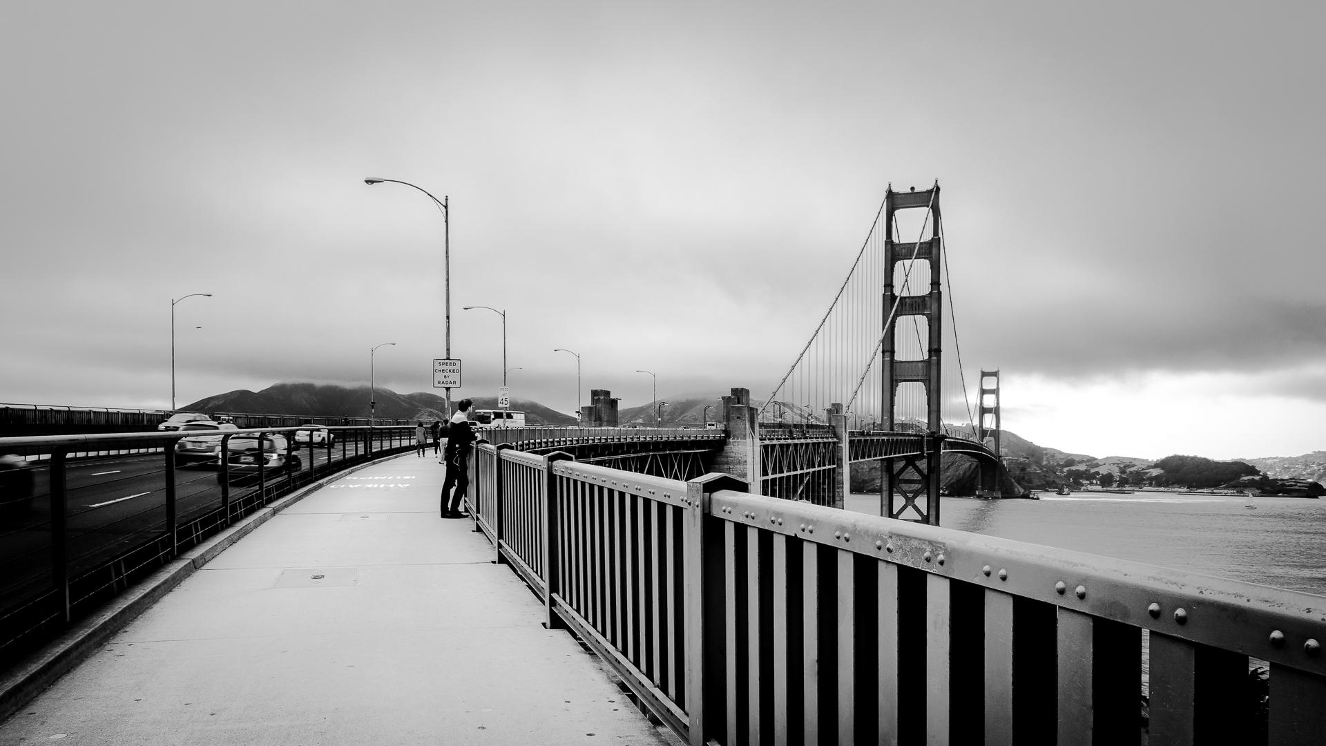 Walking on the bridge...