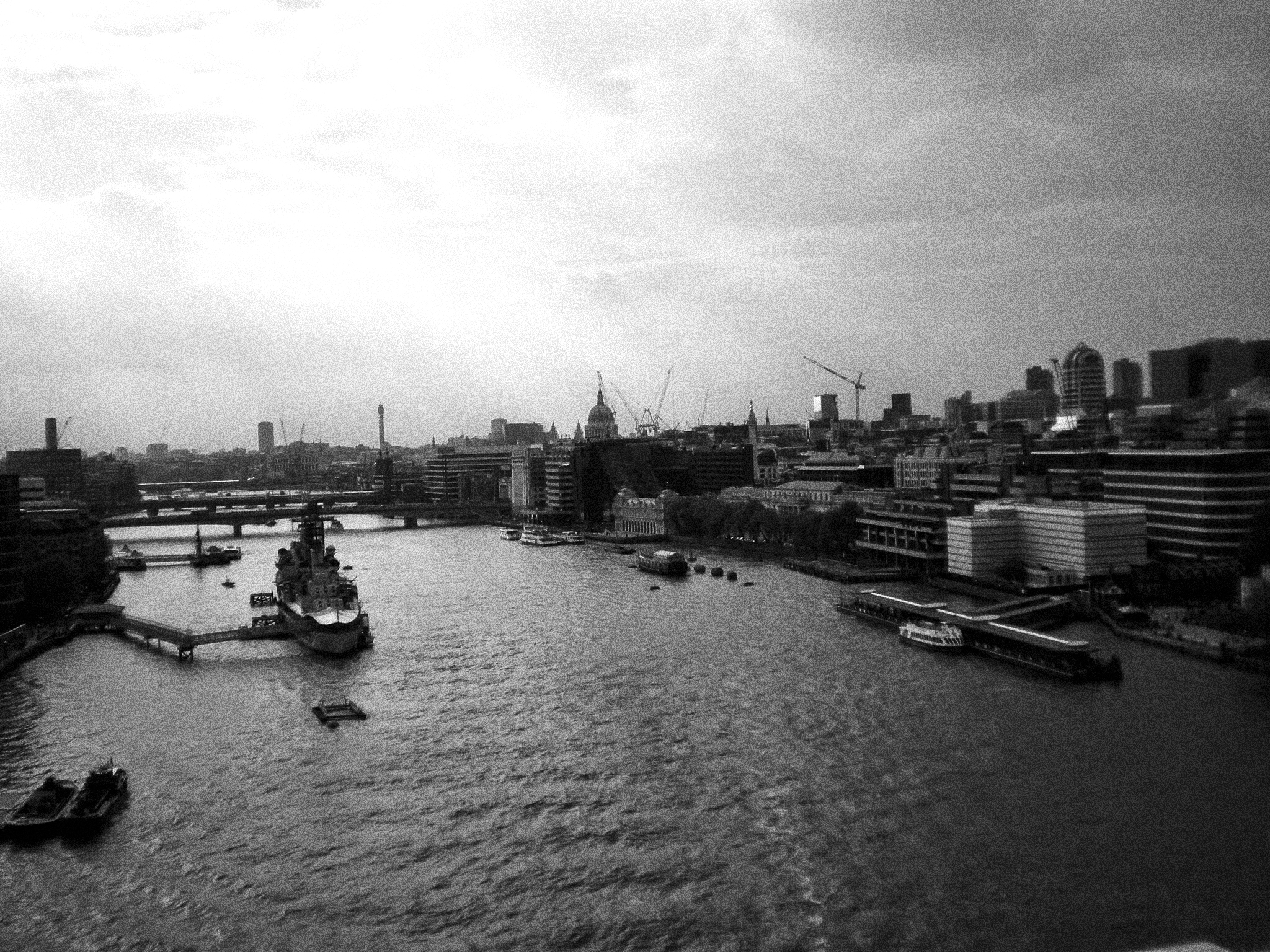 View from Tower Bridge...