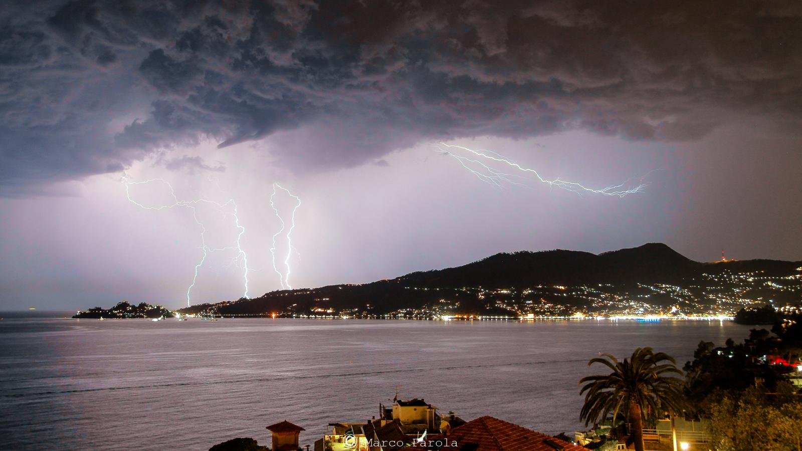 Lightning on Portofino...