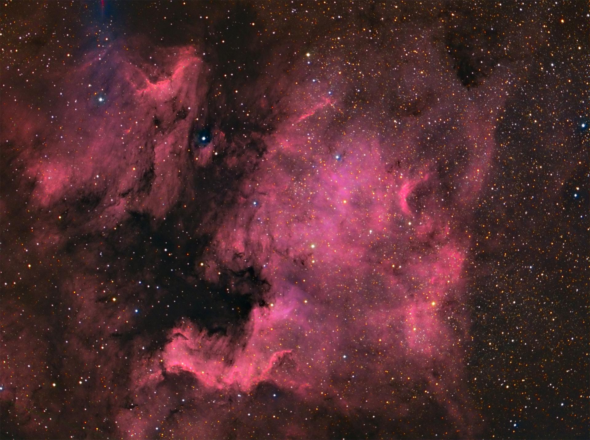 ngc7000 and Pelican Nebula...