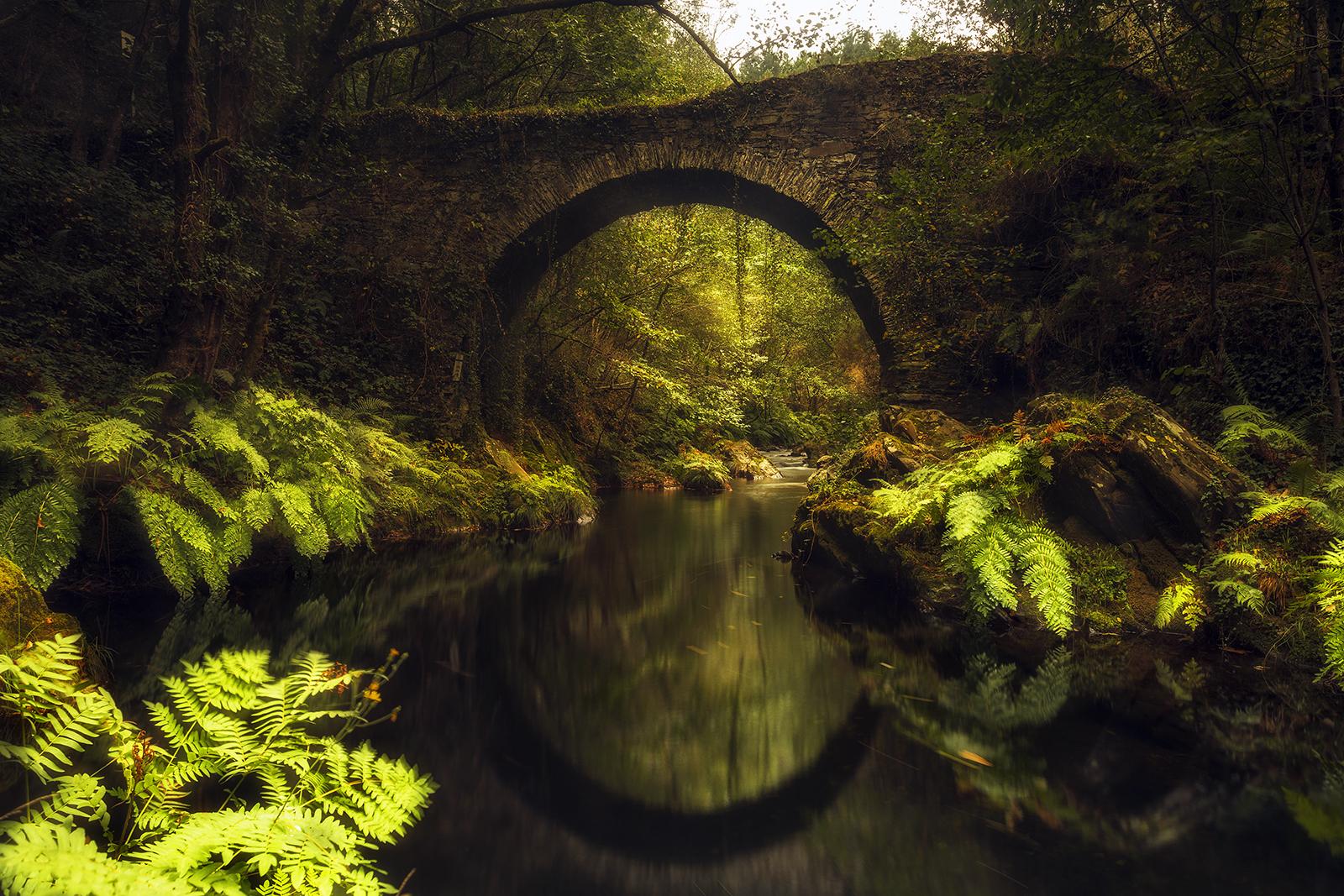 Puente Polea Villayón - Asturias...