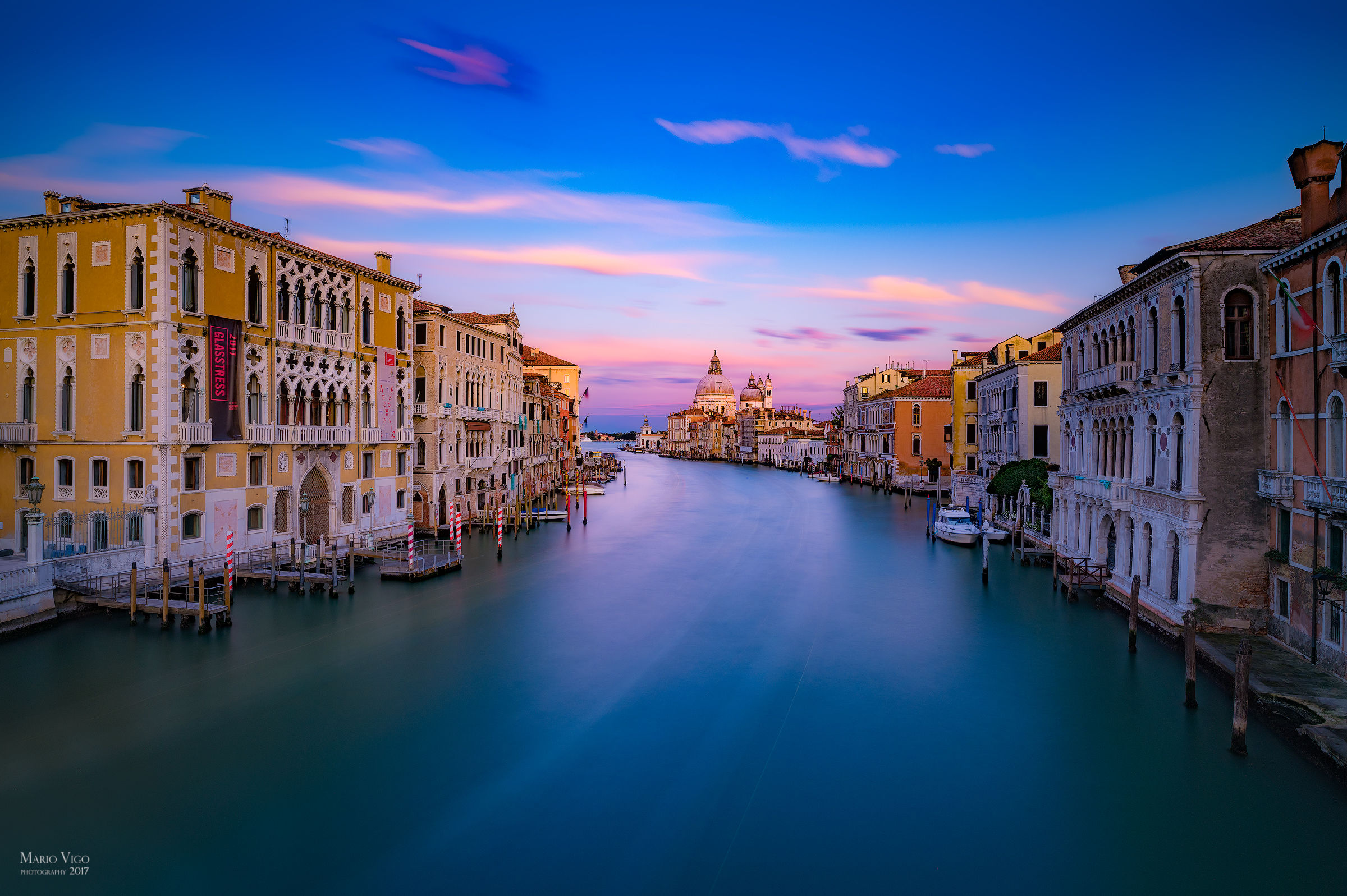 Sunset over the Grand Canal...
