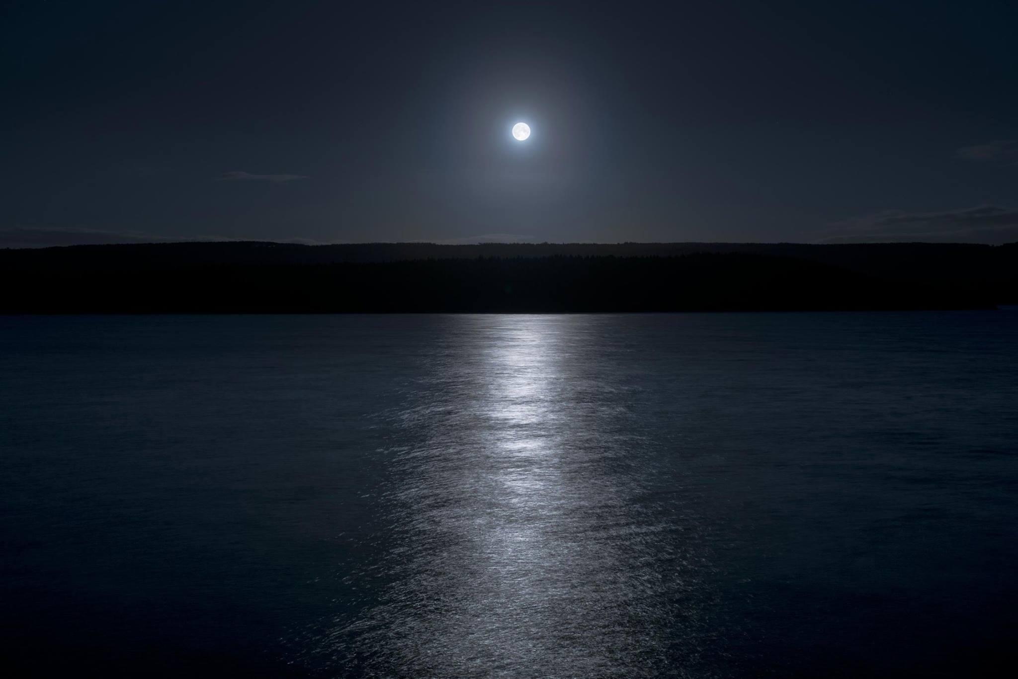 Loch Ness on a full moon night...