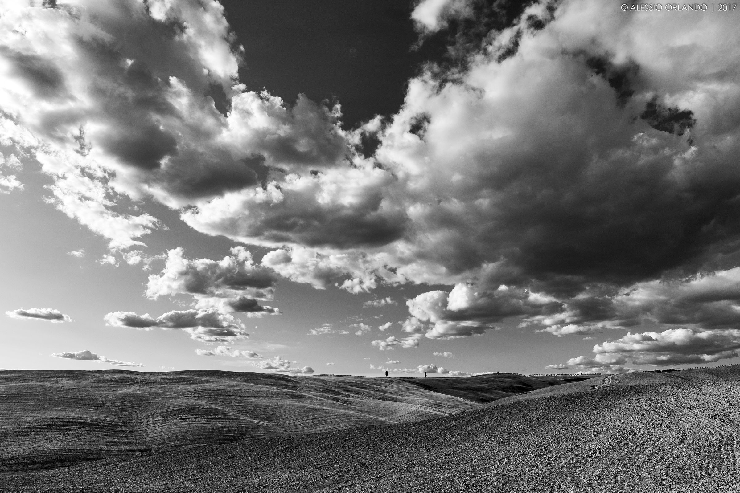 Val d'Orcia in B & W...