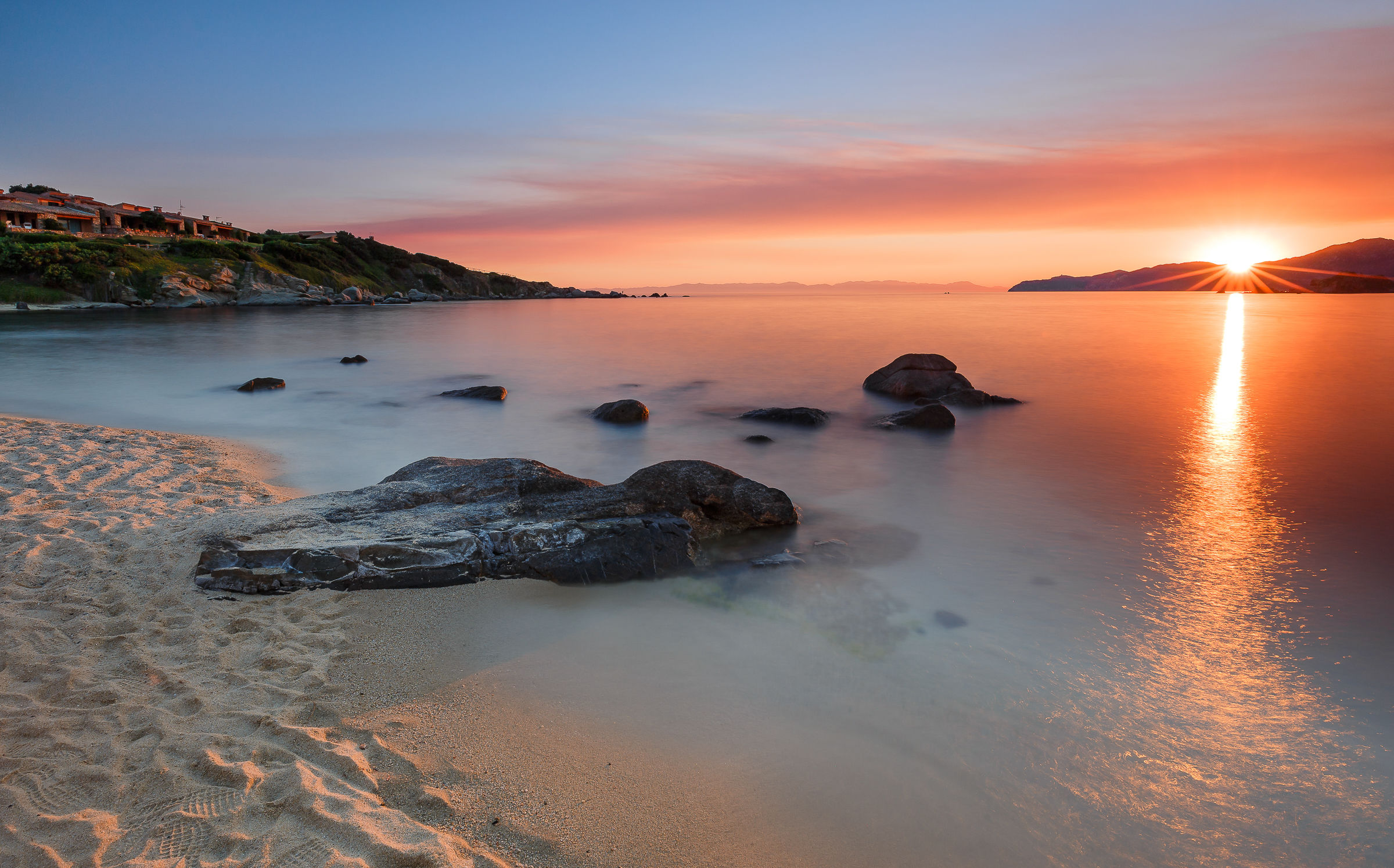 Cala Santo Stefano at sunset...