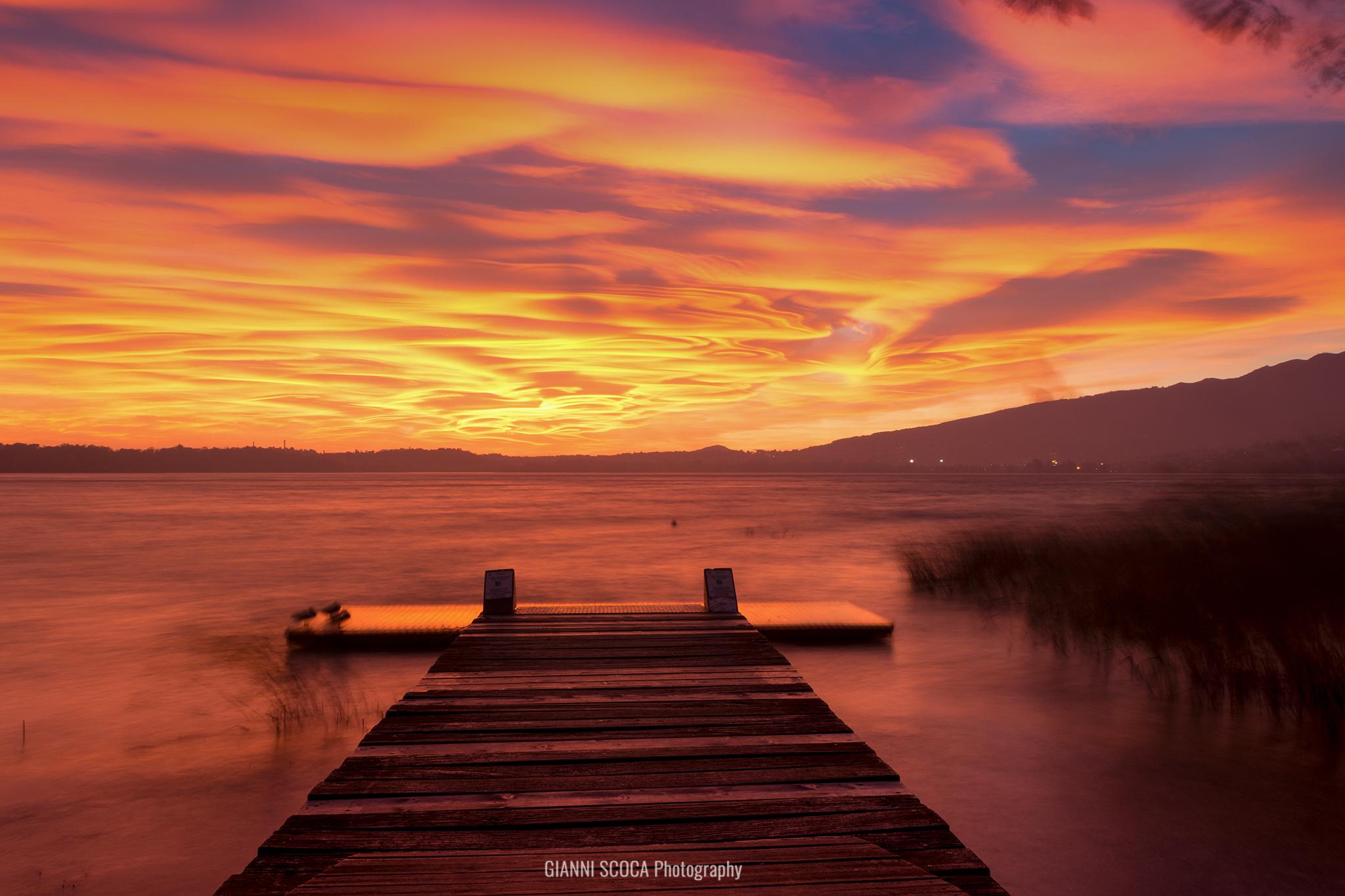 Sunset at Pusiano...