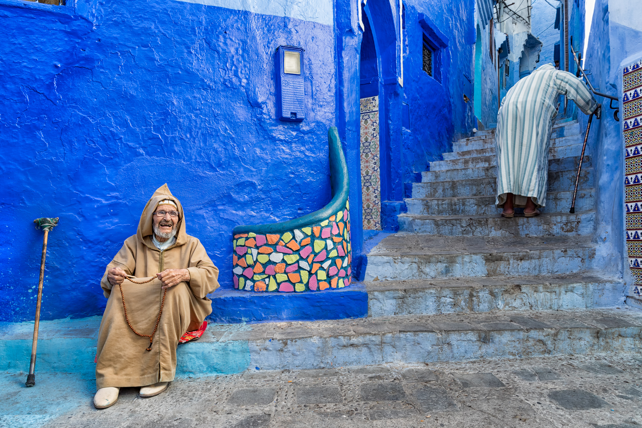 In the alleys of Chefchaouen...