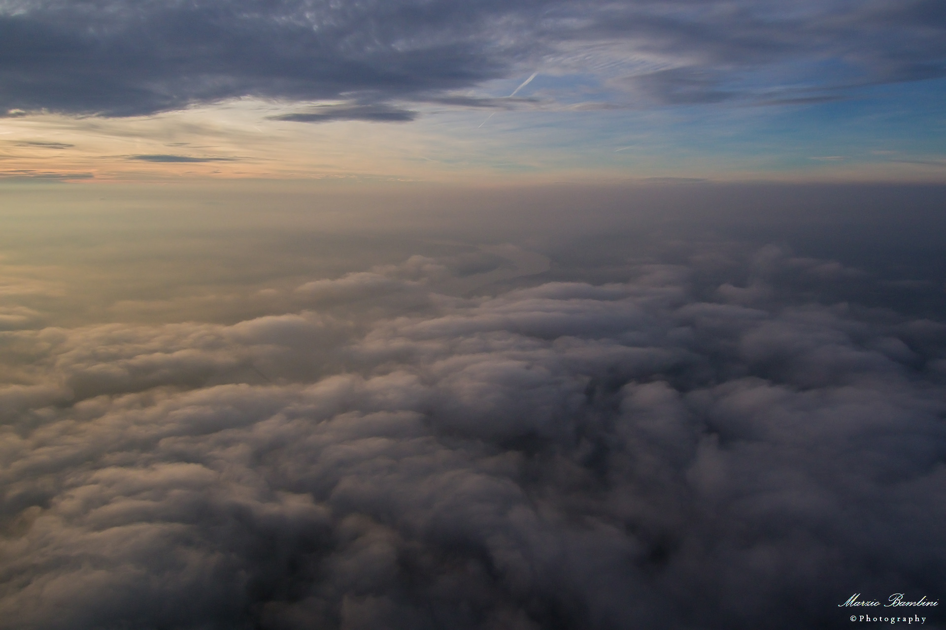 the Po to Carbonarola ... over the fog...