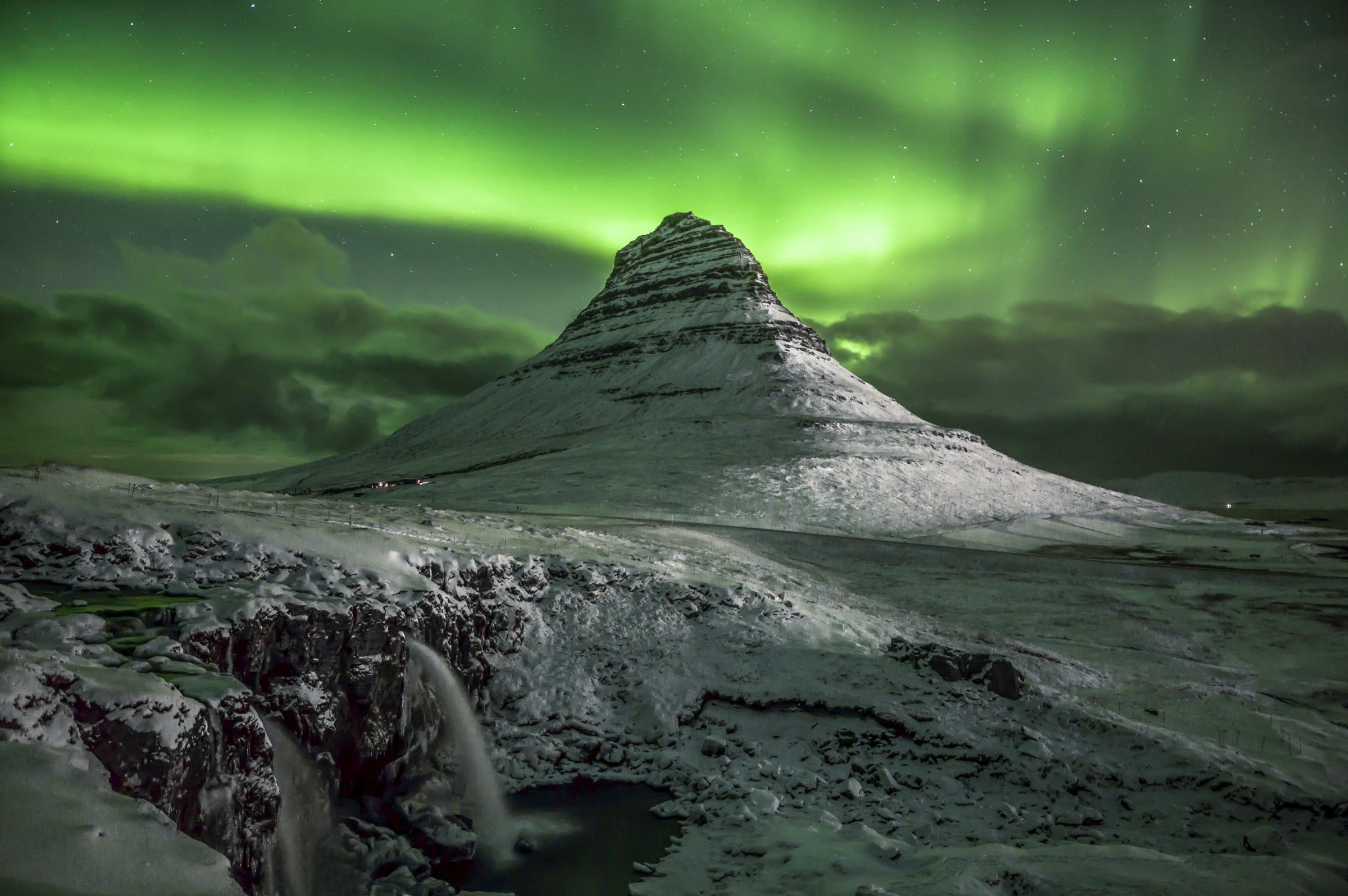 Northern Aurora at Hirkjufell...