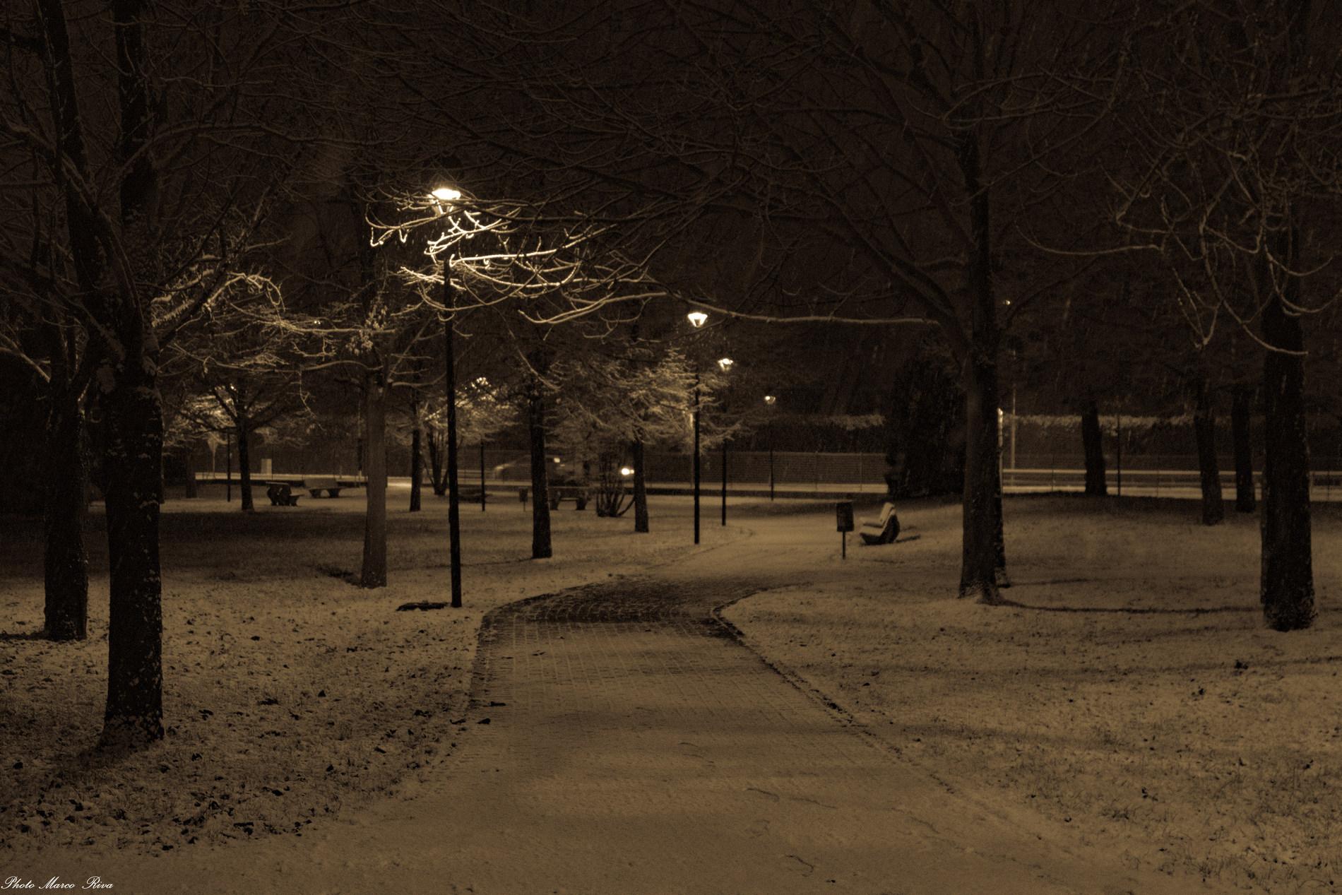 Snow in Brianza...