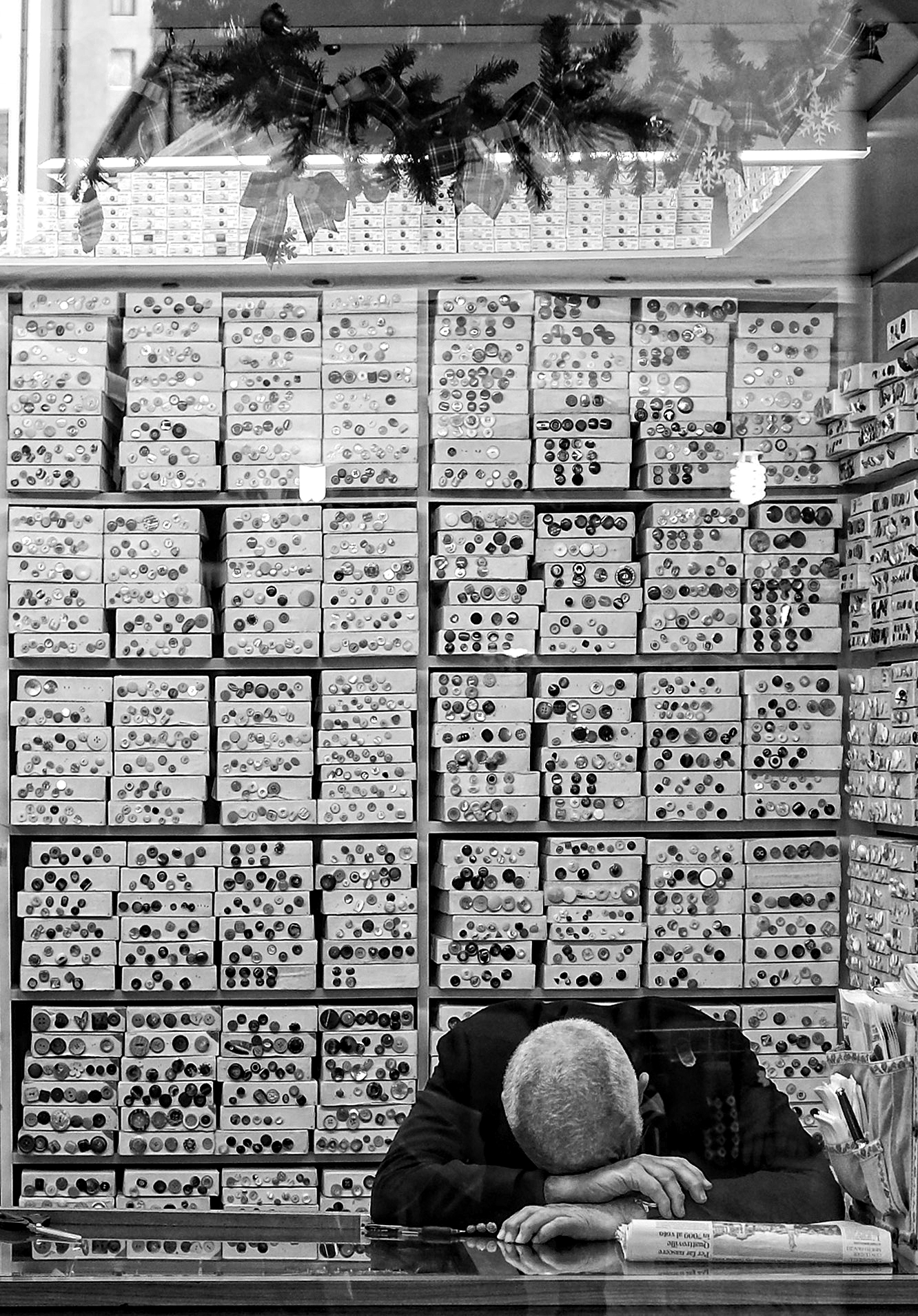 the button room...