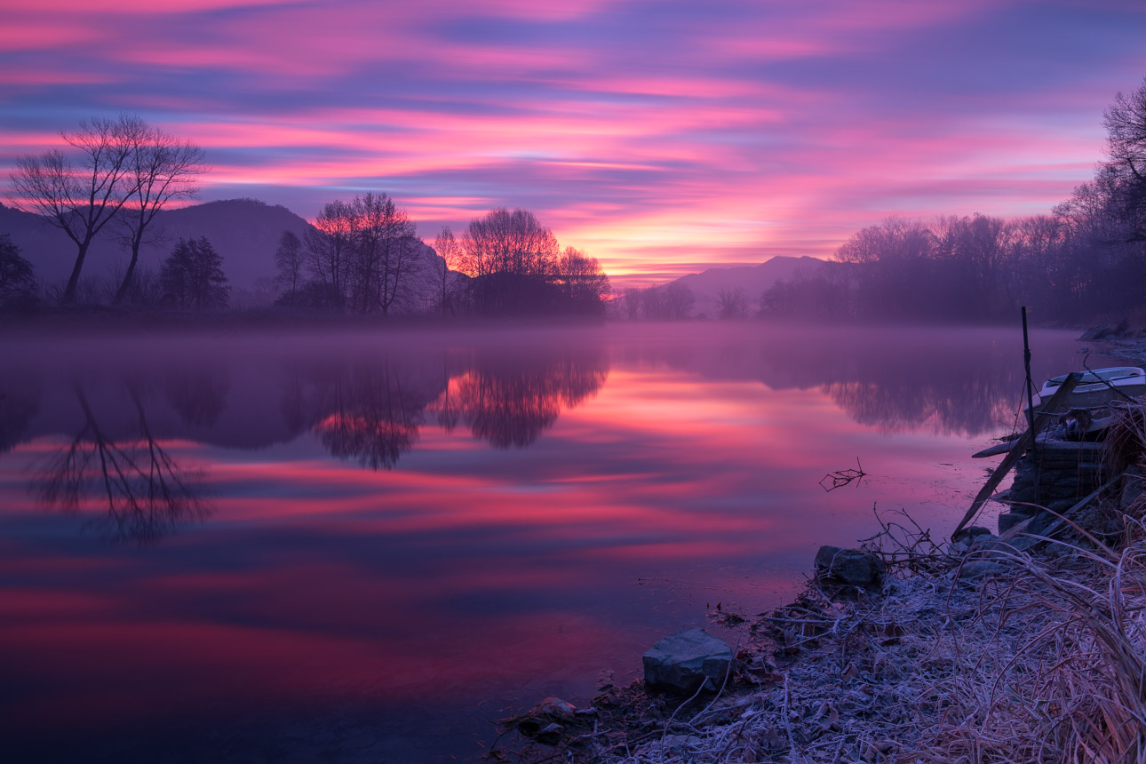 Sunrise on the river....