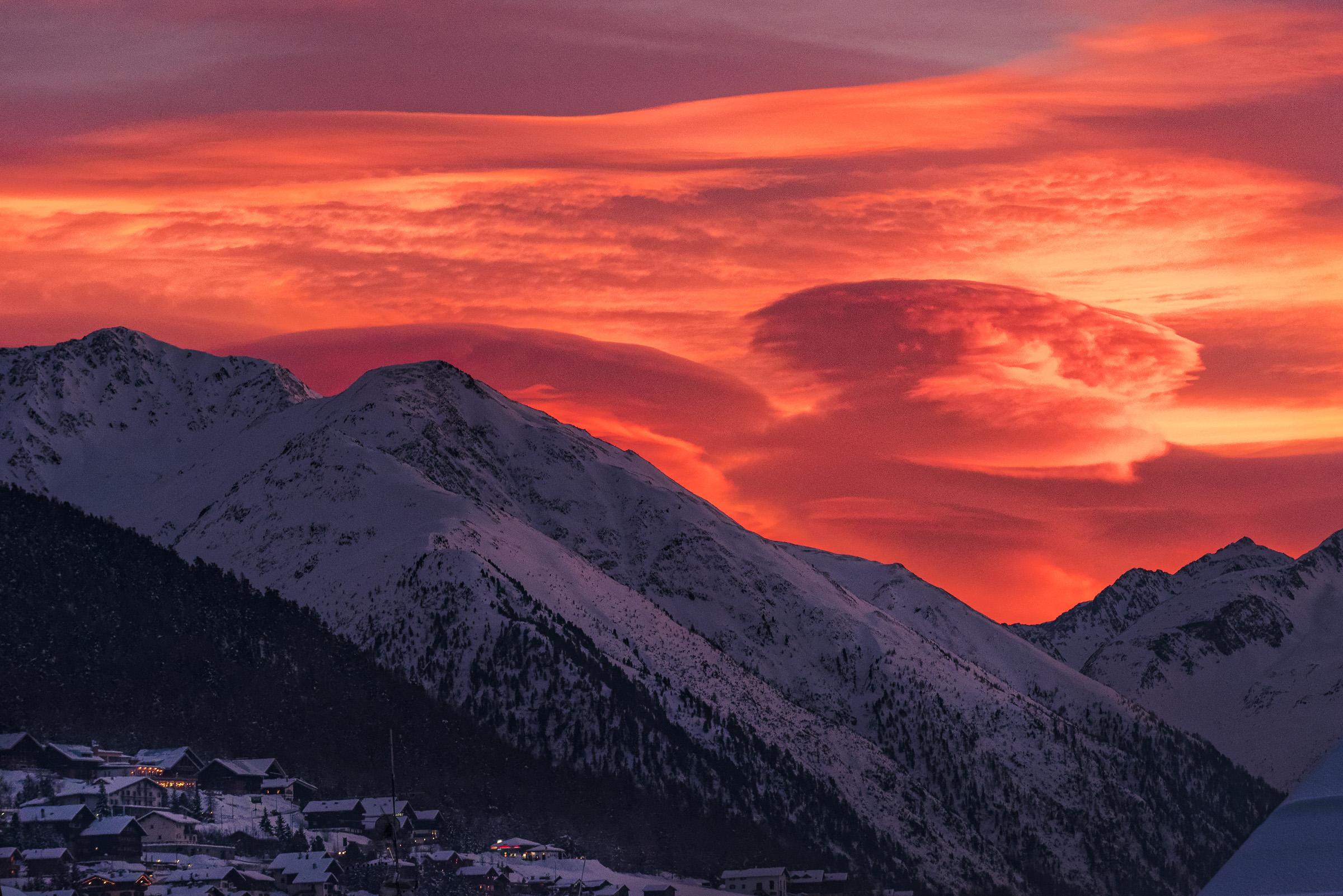 Nuvole lenticolari a Livigno...