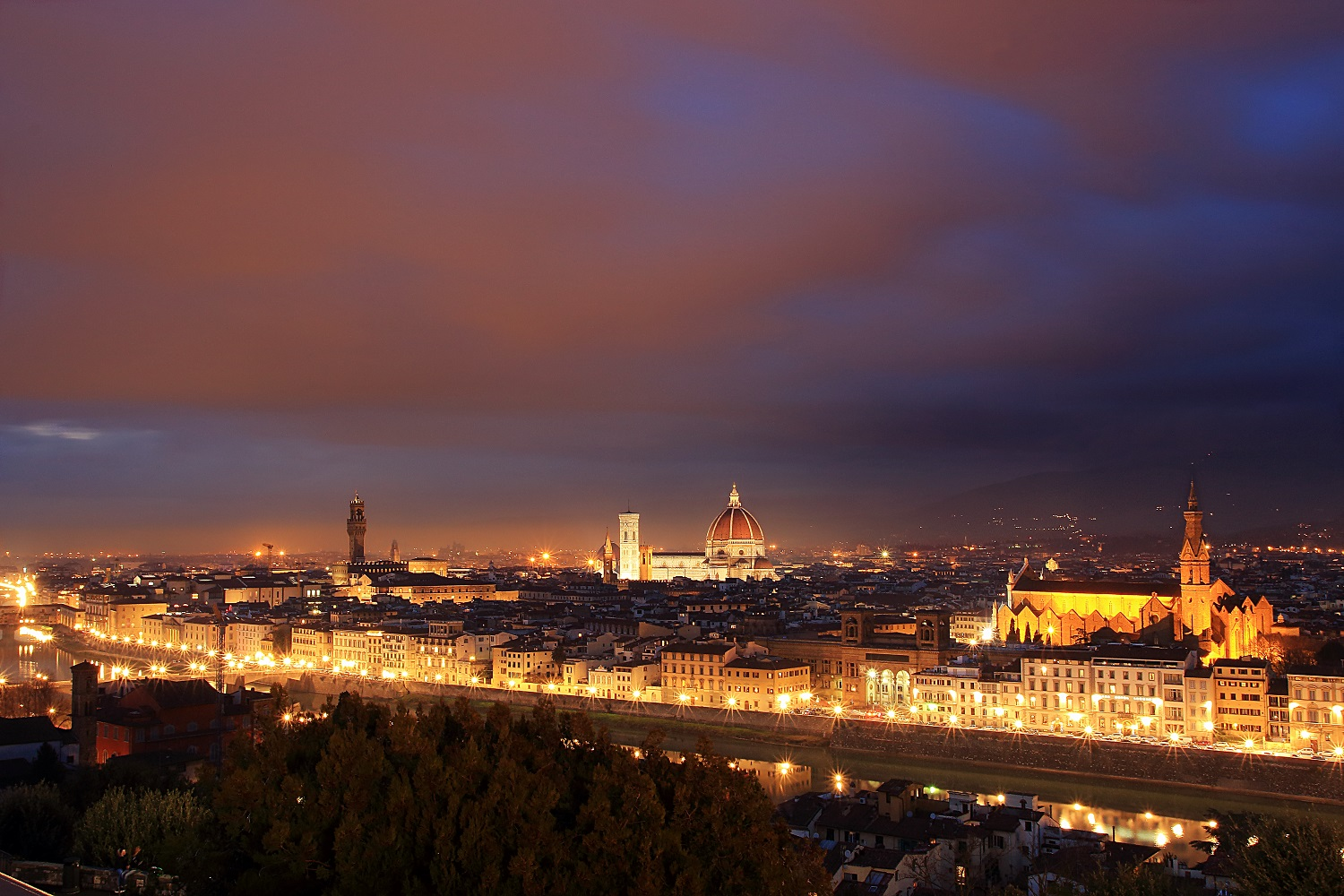 One evening in Florence...