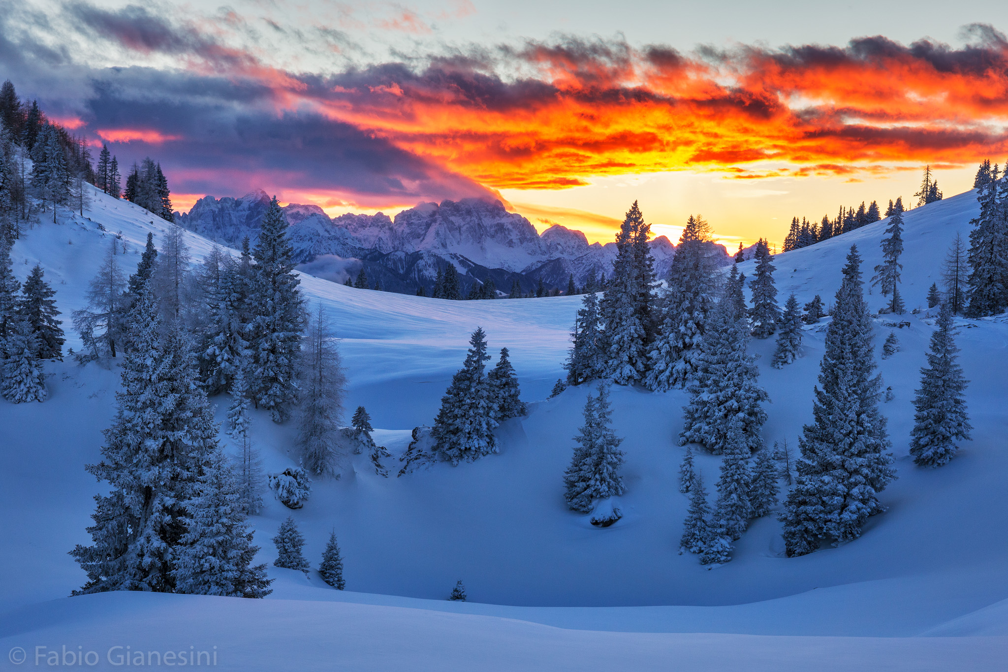 Sunset from the Dobratsch Mountain (2)...