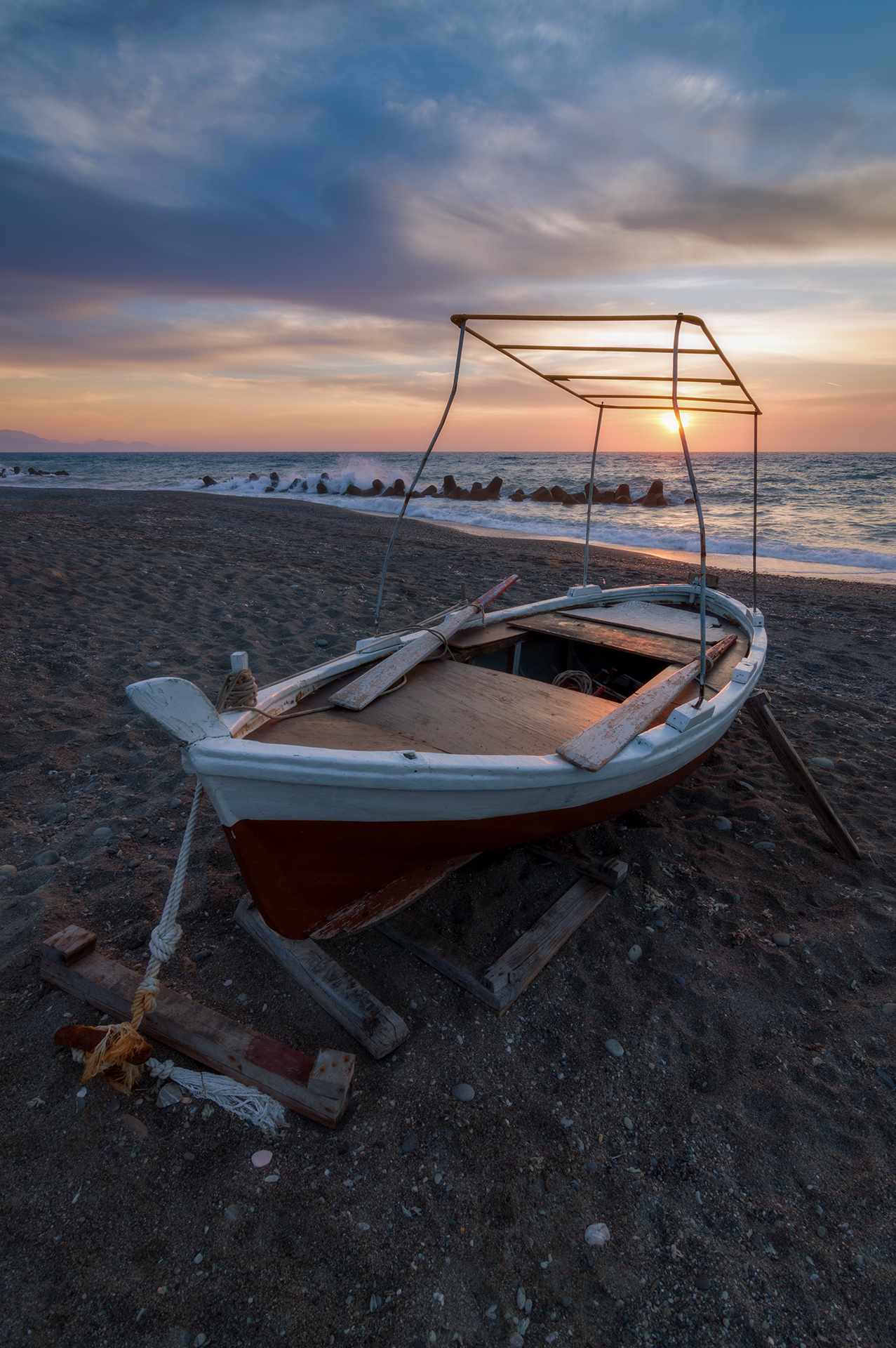 The boat at sunset...
