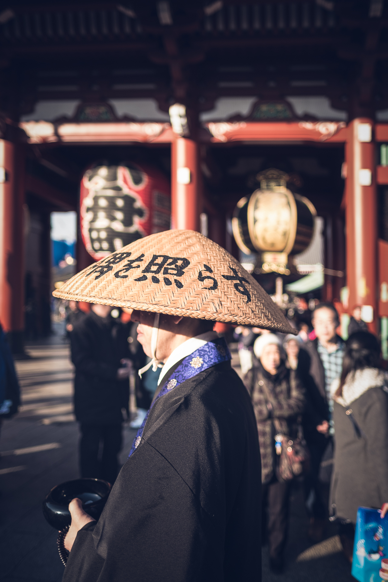 The guardian of the temple. Asakusa Temple Tokyo...