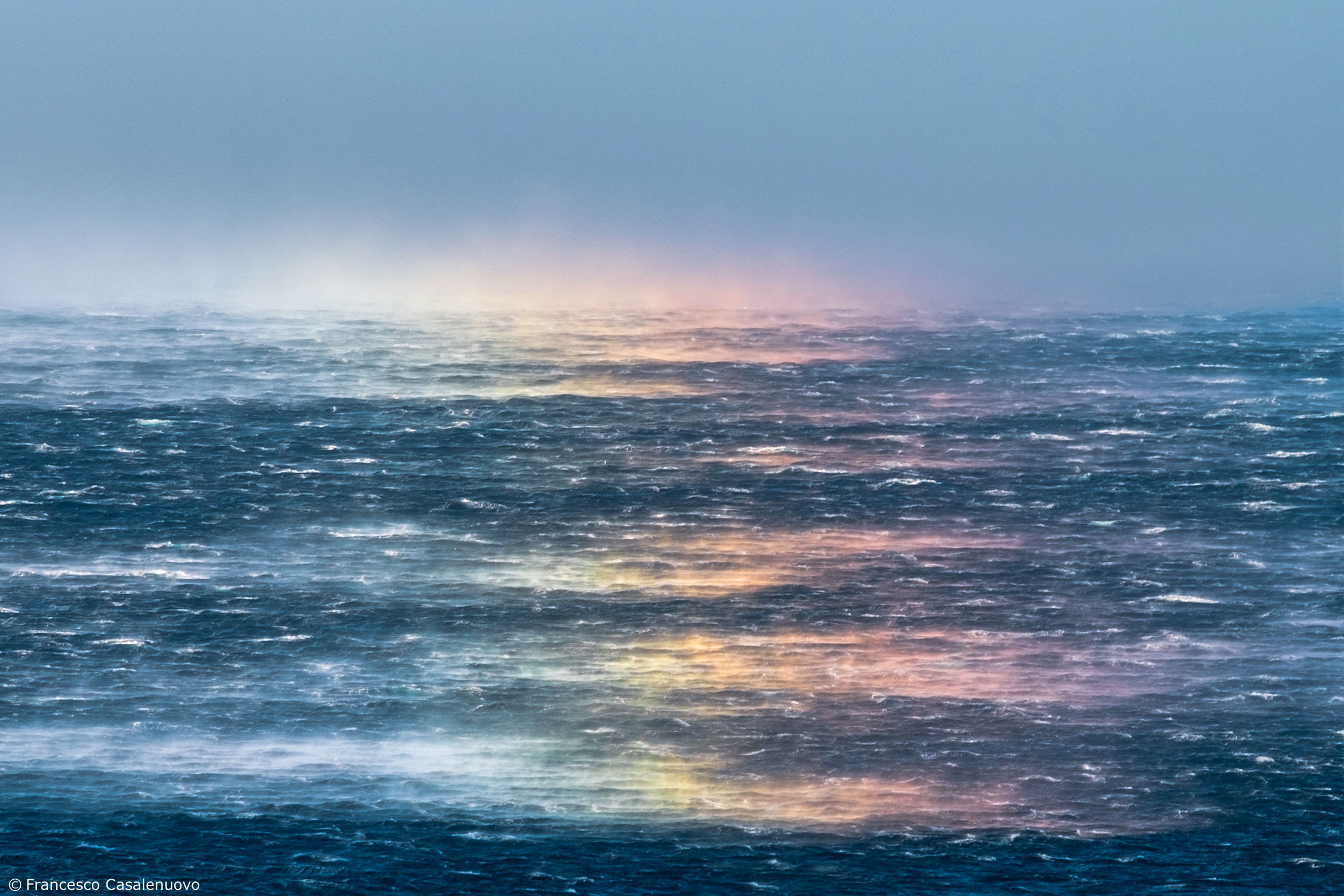 Rainbow on the waves...