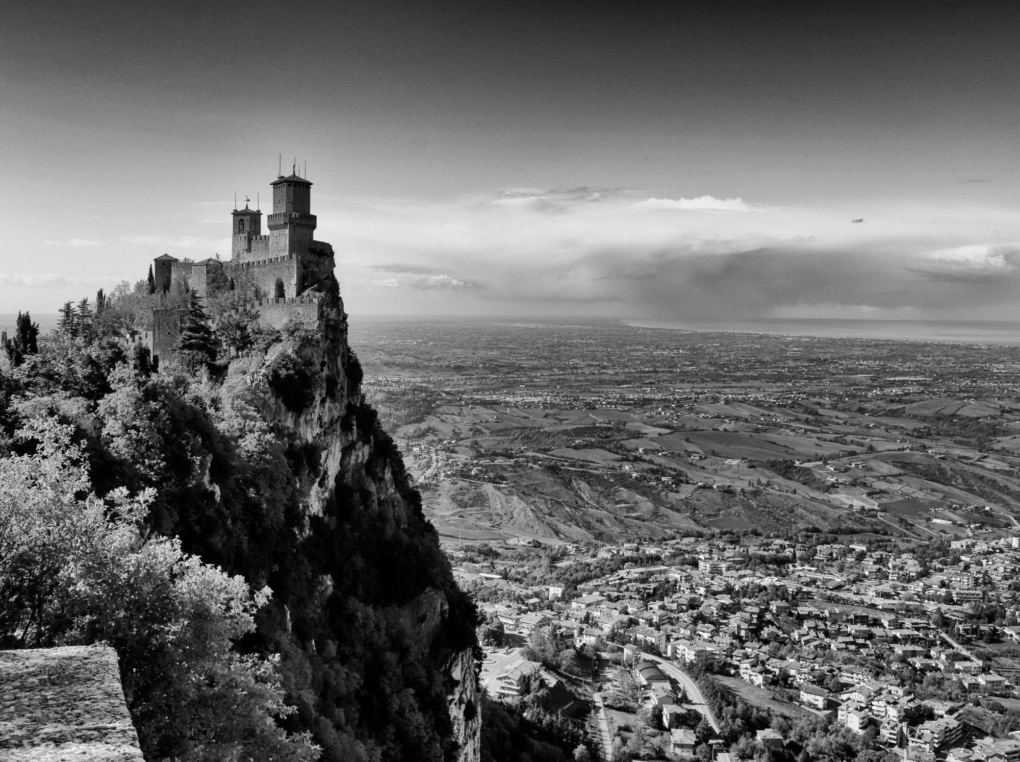 San Marino view from the fortress...