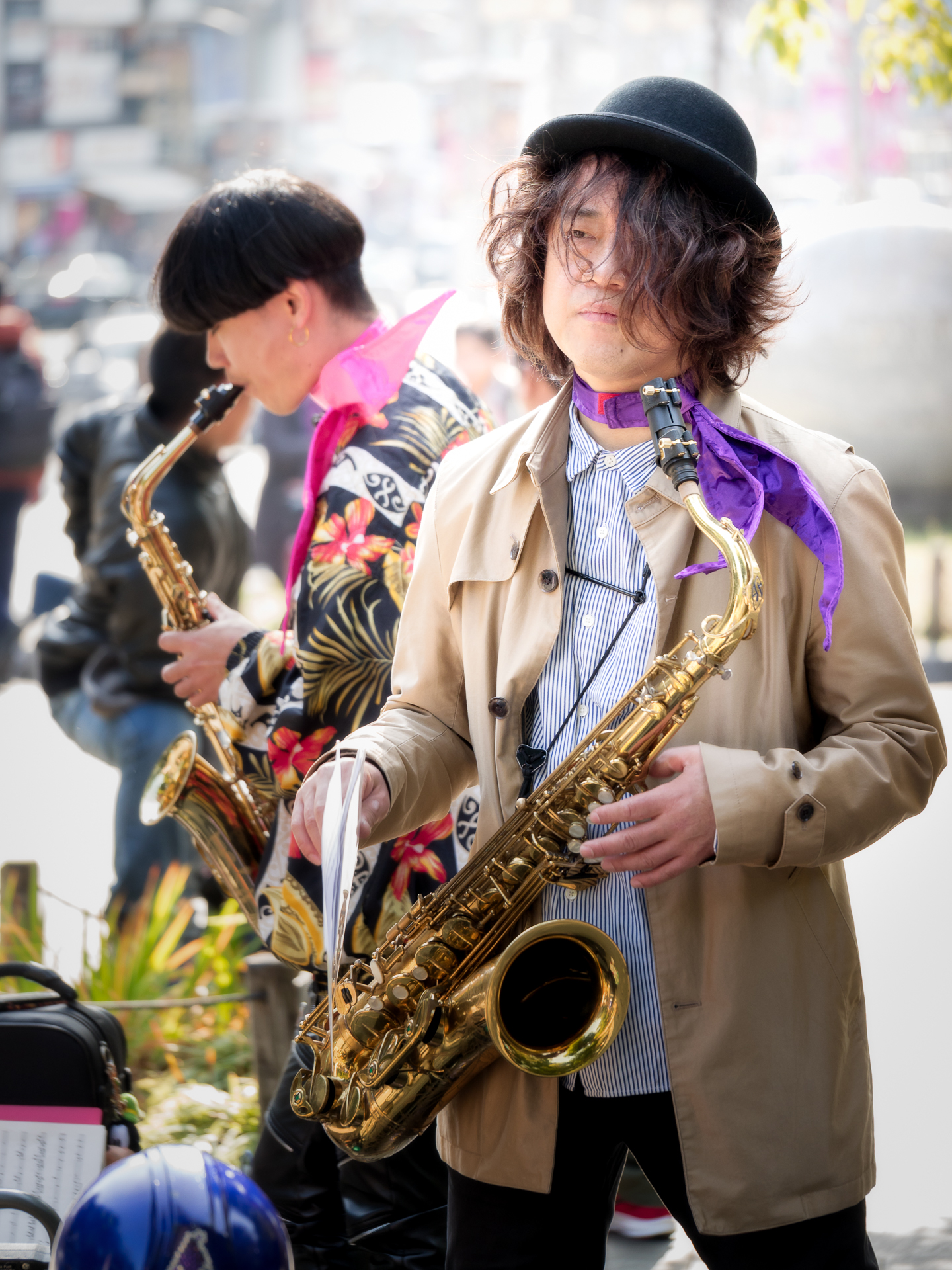 Ueno Jazz (a few moments before the performance)...